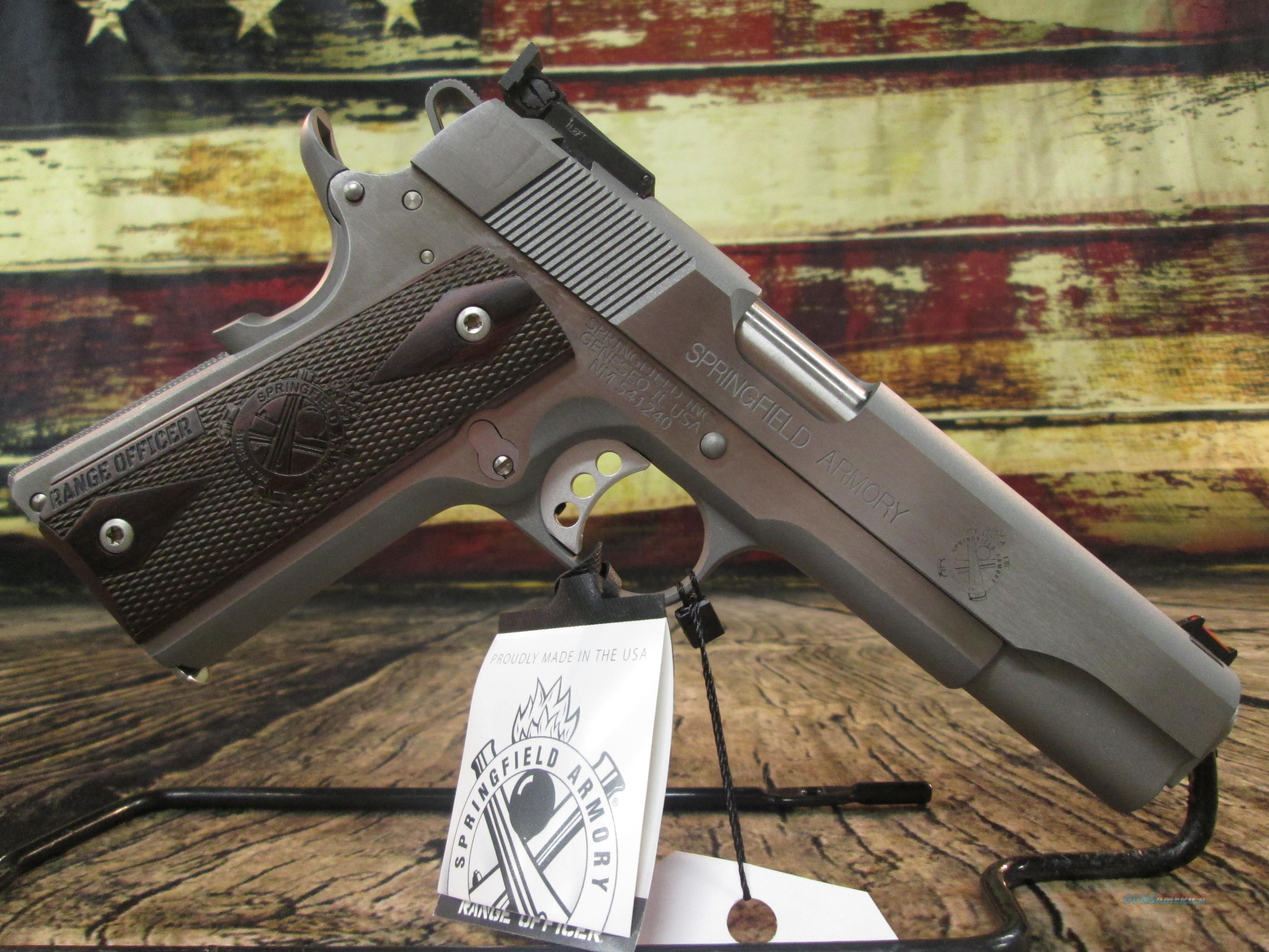 """Springfield Armory 1911 Range Officer 45 ACP Stainless 5"""" New (PI9124L)   Guns > Pistols > Springfield Armory Pistols > 1911 Type"""