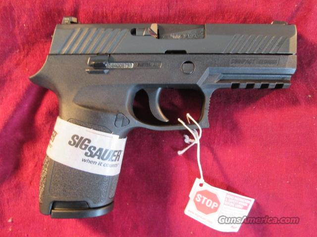 SIG SAUER P320 COMPACT 9MM STRIKER FIRED PISTOL W/ NIGHT SIGHTS NEW   (320C-9-BSS)  Guns > Pistols > Sig - Sauer/Sigarms Pistols > Other