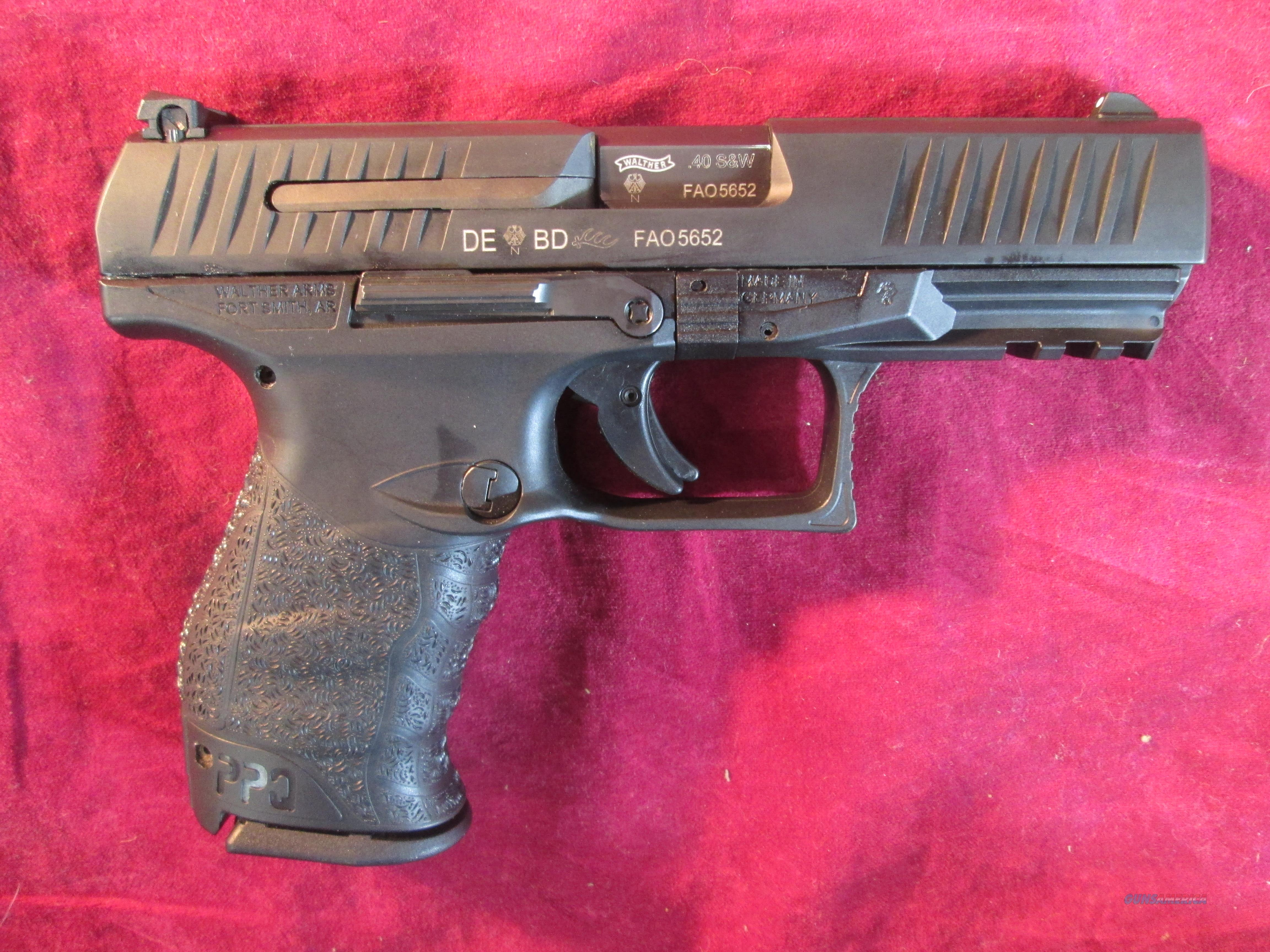 WALTHER PPQ M2 .40 CAL BLACK USED  Guns > Pistols > Walther Pistols > Post WWII > P99/PPQ