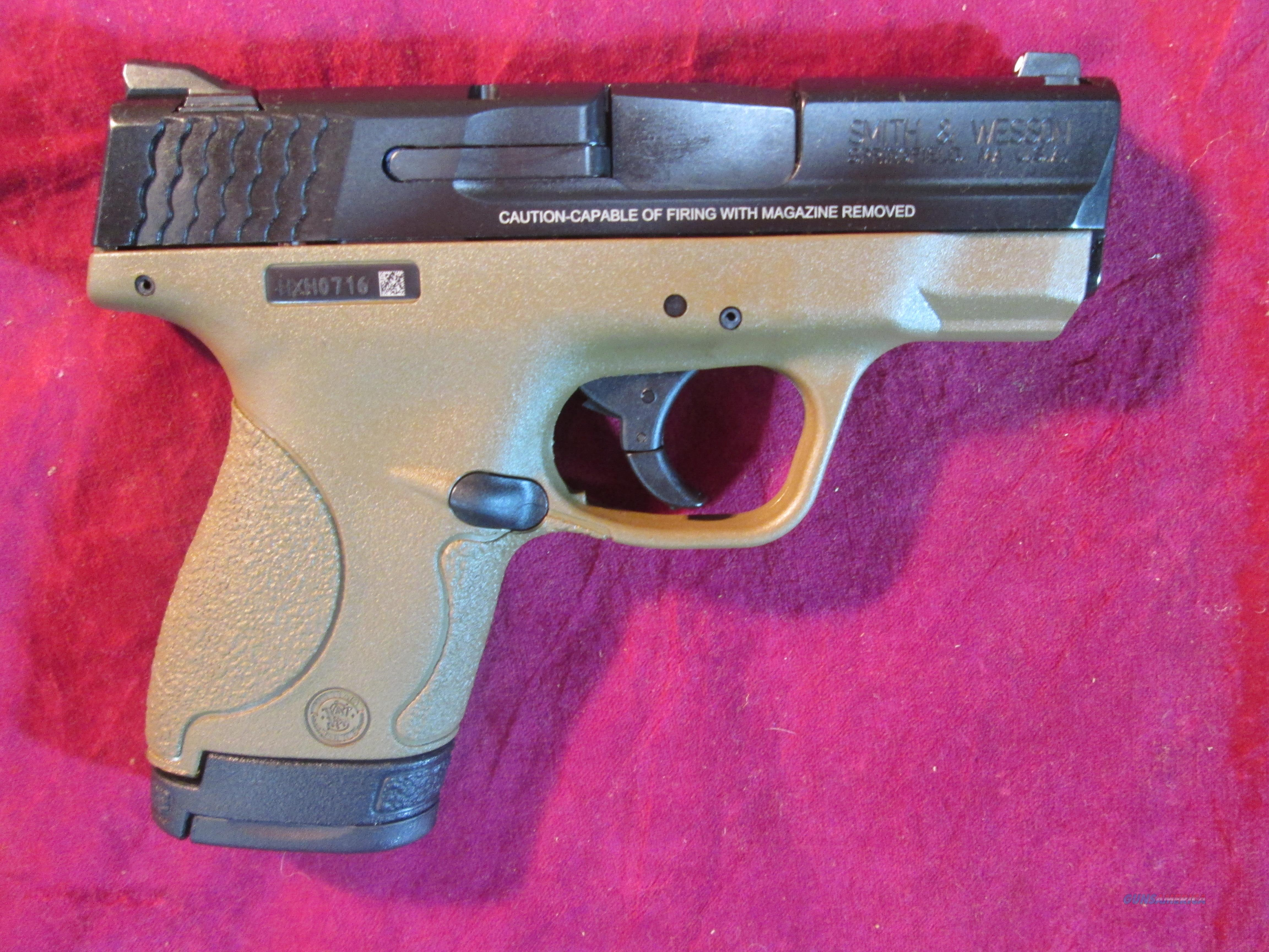 SMITH AND WESSON M&P SHIELD FDE .40 CAL W/ MANUAL SAFETY NEW  (10180)   Guns > Pistols > Smith & Wesson Pistols - Autos > Shield