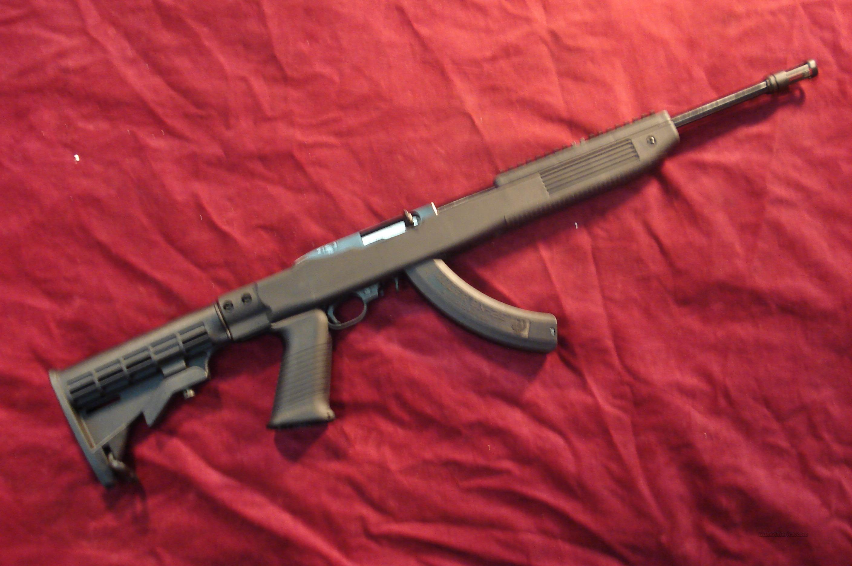 RUGER 10/22 TACTICAL WITH TAPCO STOCK AND FACTORY 25 ROUND MAG NEW  Guns > Rifles > Ruger Rifles > 10-22