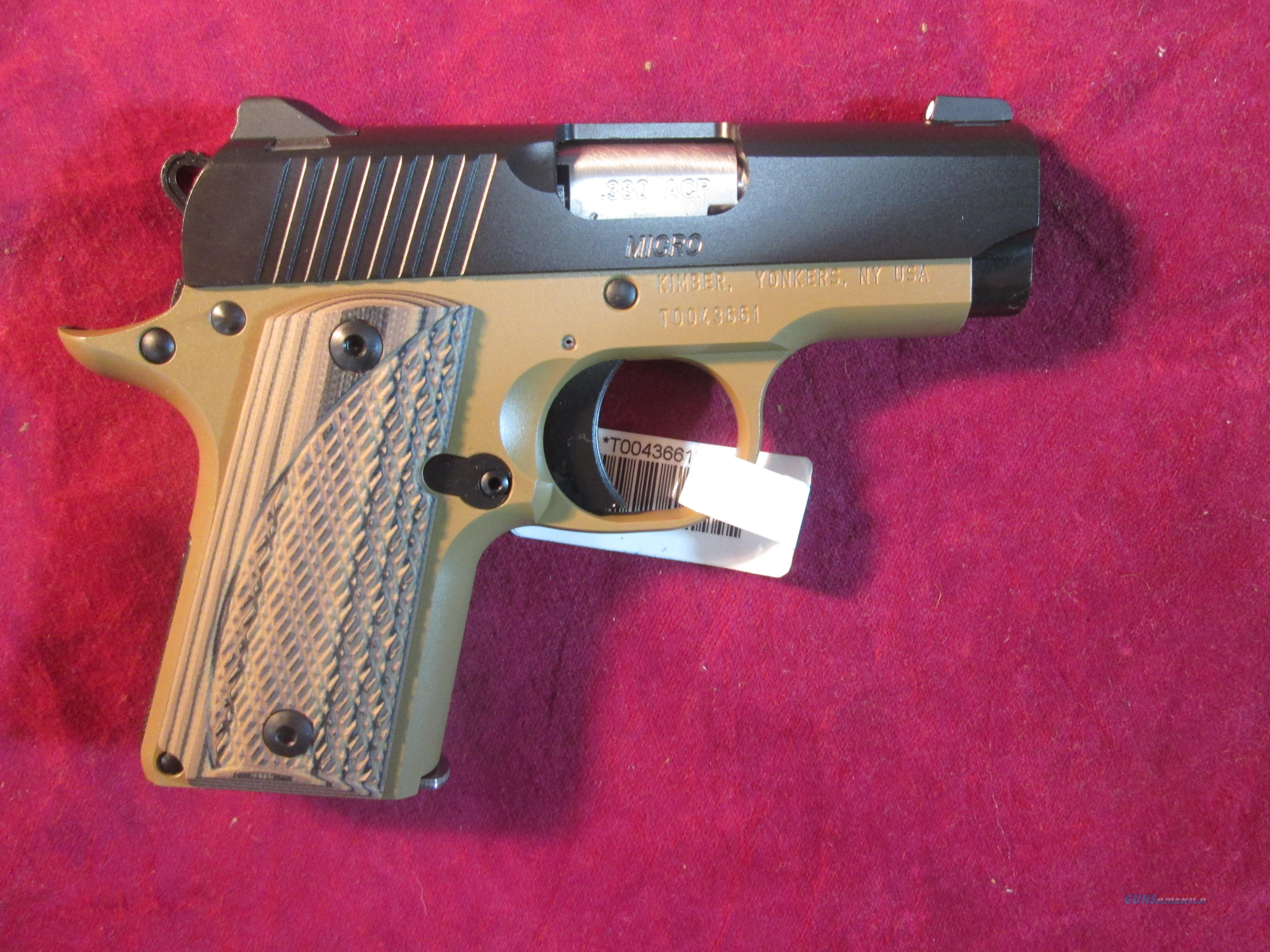KIMBER MICRO 380 DESERT NIGHT NEW (3300167)  Guns > Pistols > Kimber of America Pistols > Micro