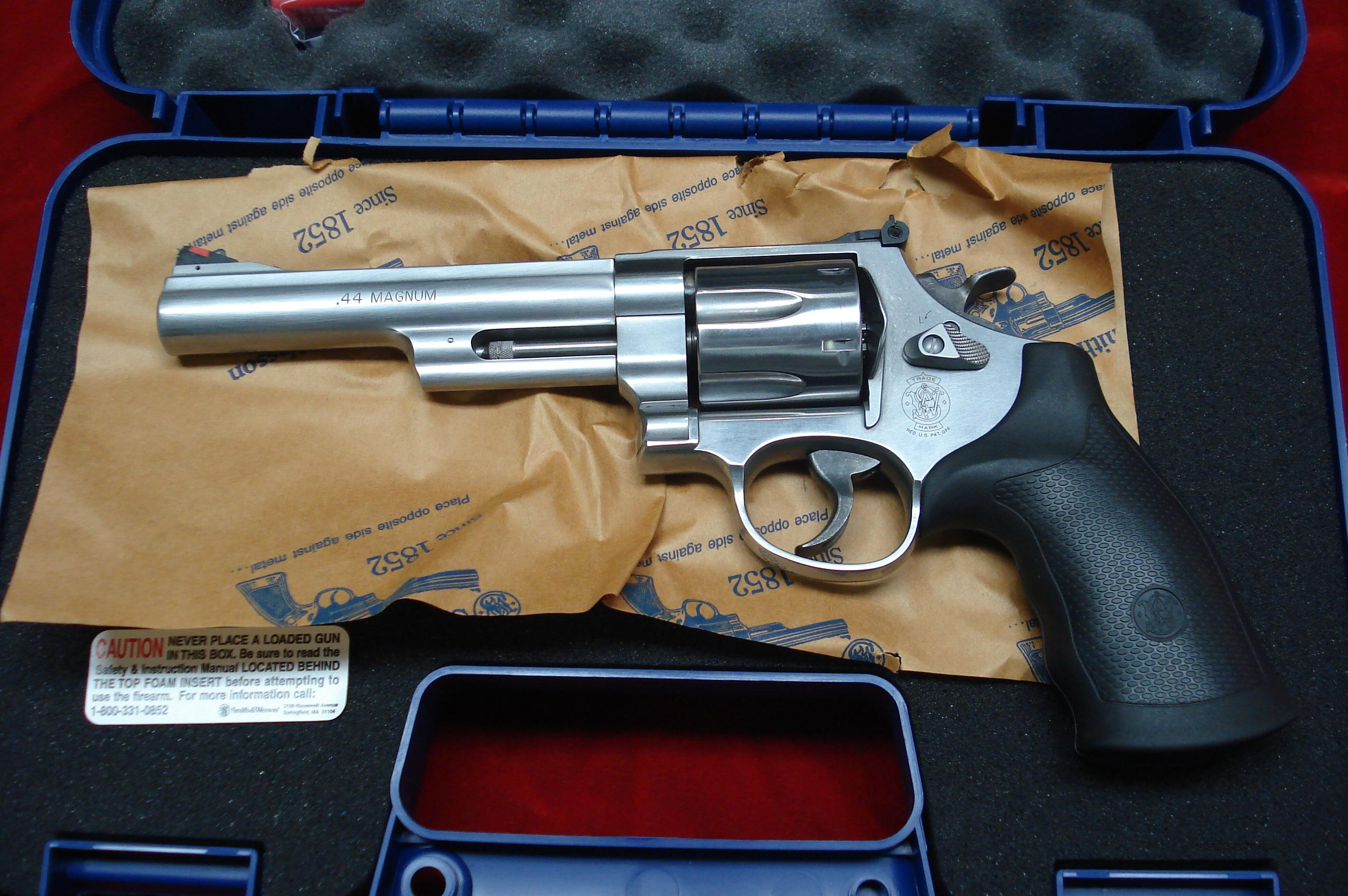 "SMITH AND WESSON MODEL 629 6"" 44MAG. NEW   Guns > Pistols > Smith & Wesson Revolvers > Model 629"