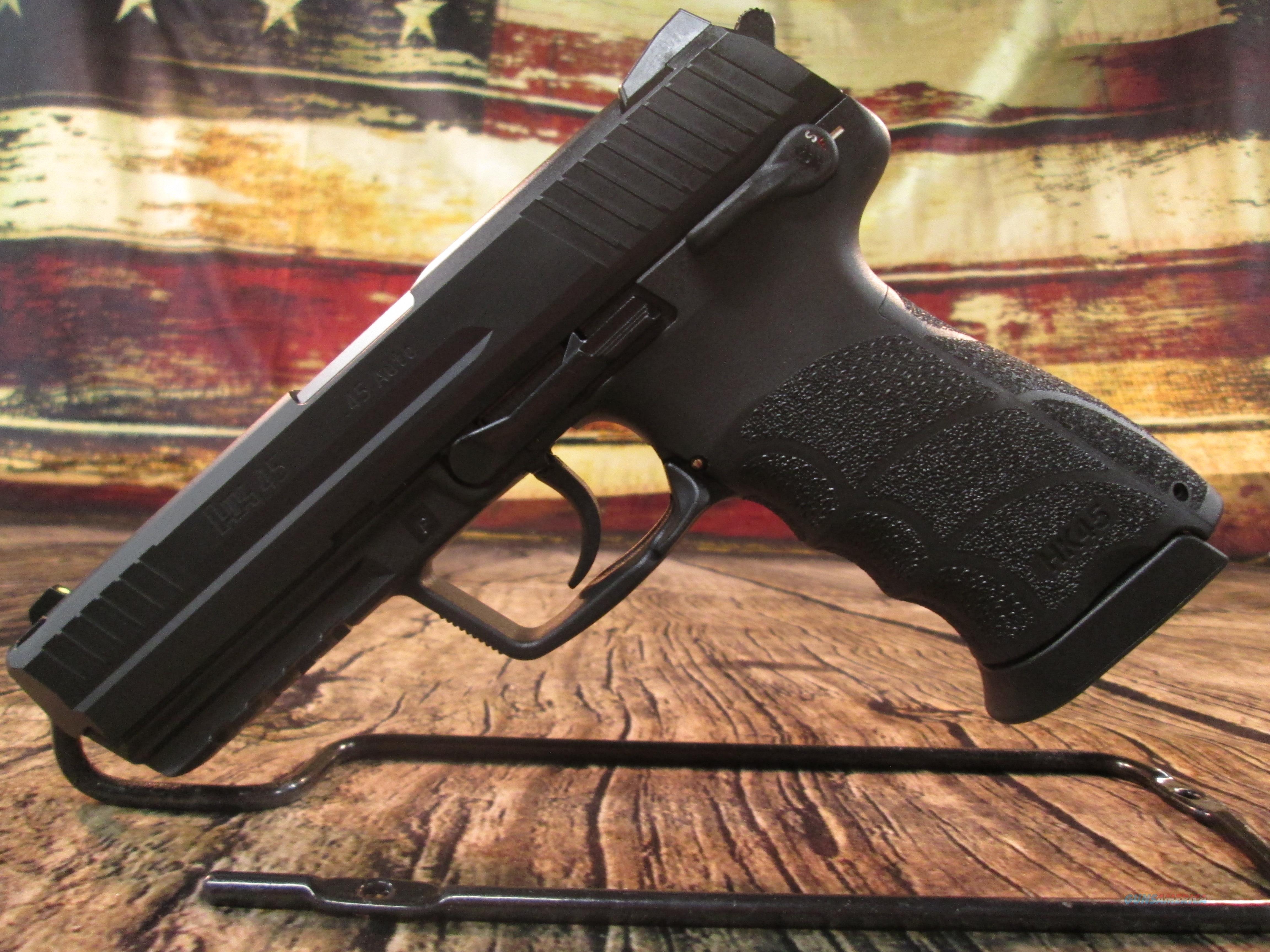 HK 45 V-1 45ACP NEW (745001-A5)  Guns > Pistols > Heckler & Koch Pistols > Polymer Frame