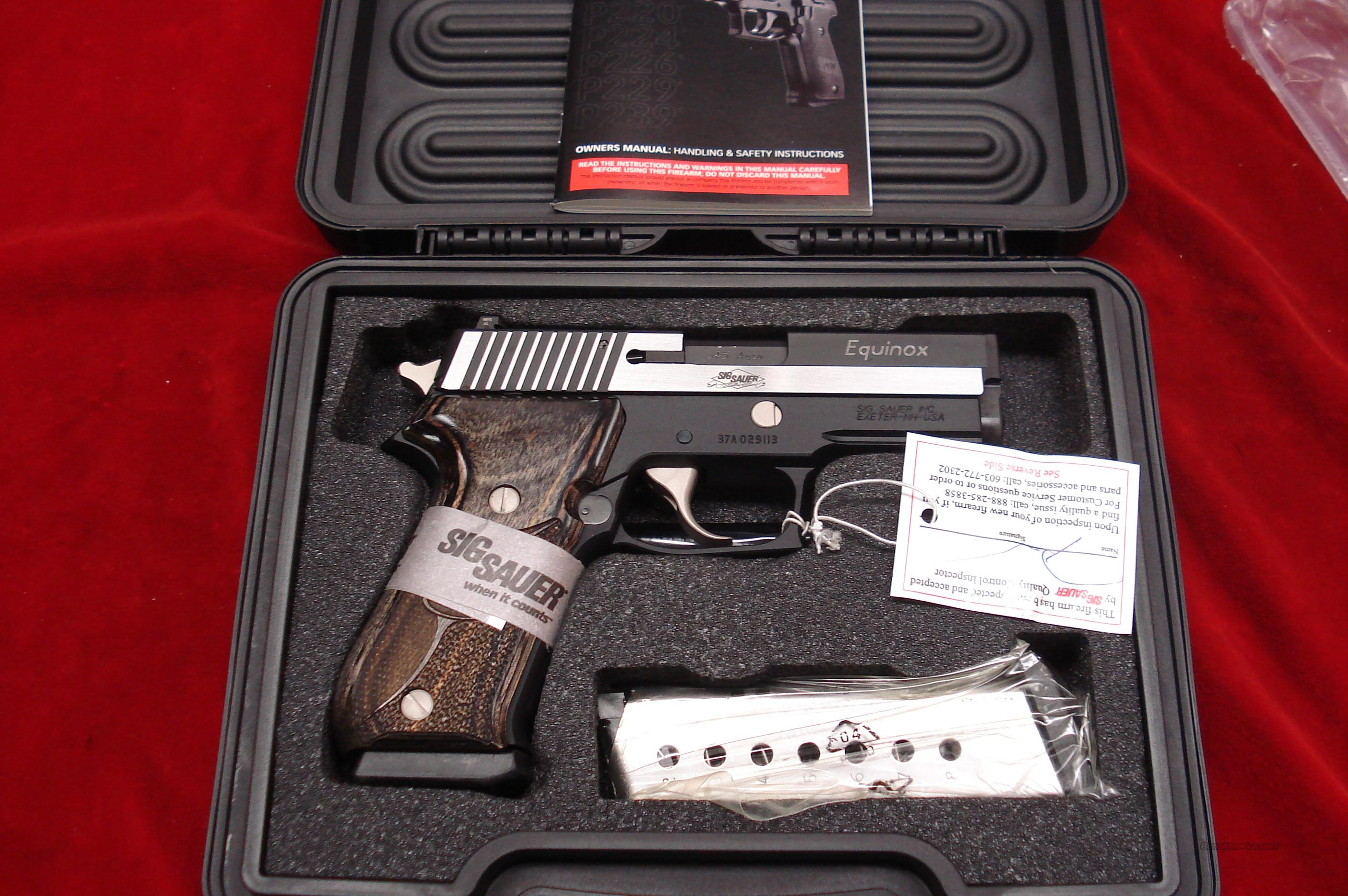SIG SAUER P220 EQUINOX CARRY 45CAL STAINLESS TWO TONE WITH NIGHT SIGHTS NEW   Guns > Pistols > Sig - Sauer/Sigarms Pistols > P220