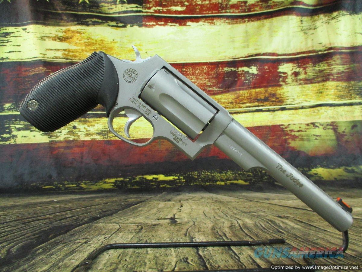 """Taurus Judge 45lc/410g 6.5"""" Stainless Barrel 2.5"""" Chamber NEW (2-441069T)  Guns > Pistols > Taurus Pistols > Revolvers"""