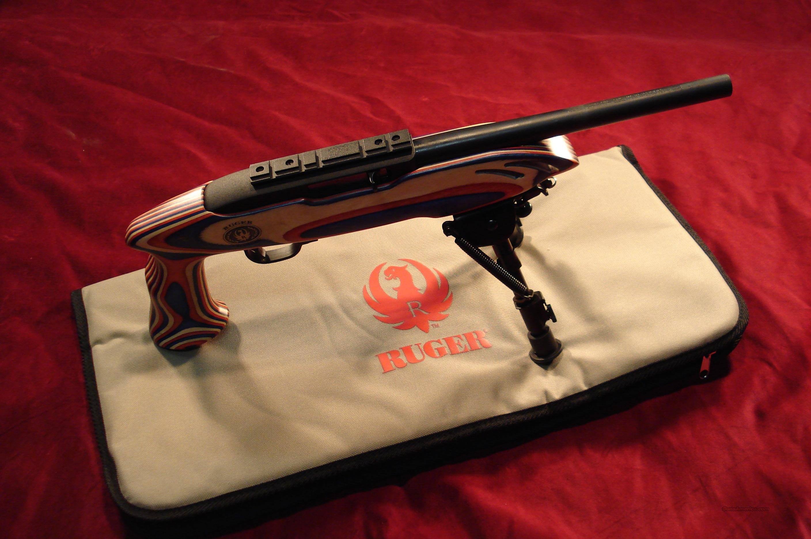 RUGER CHARGER 22LR PISTOL LAMINATE RED WHITE AND BLUE STOCK NEW  Guns > Pistols > Ruger Semi-Auto Pistols > Full Frame Autos