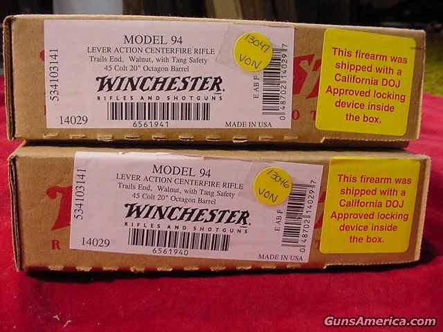 WINCHESTER CONSEC. TRAILS END OCT 45C  Guns > Rifles > Winchester Rifles - Modern Lever