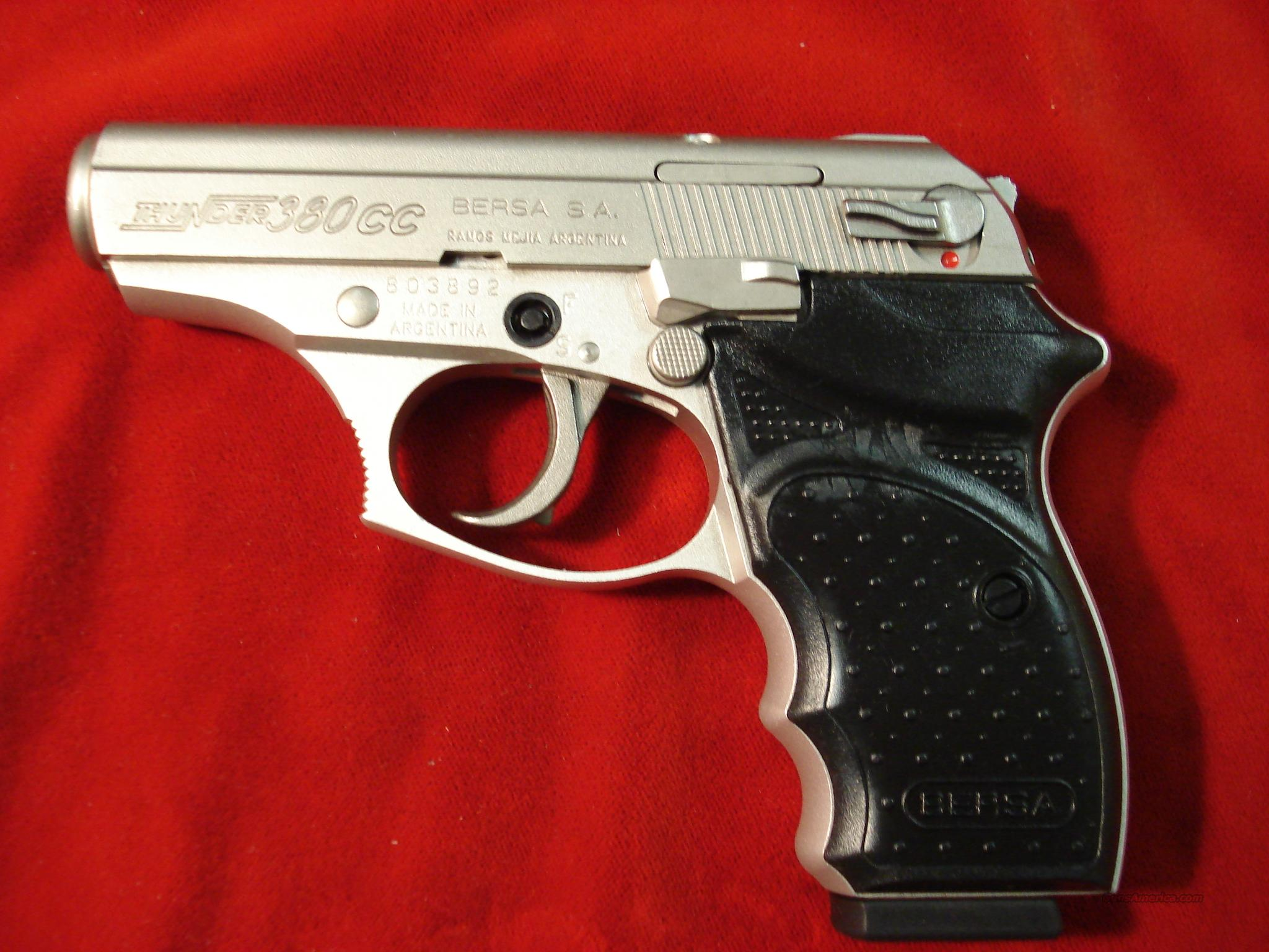 BERSA CONCEALED CARRY 380CAL NICKLE  Guns > Pistols > Bersa Pistols