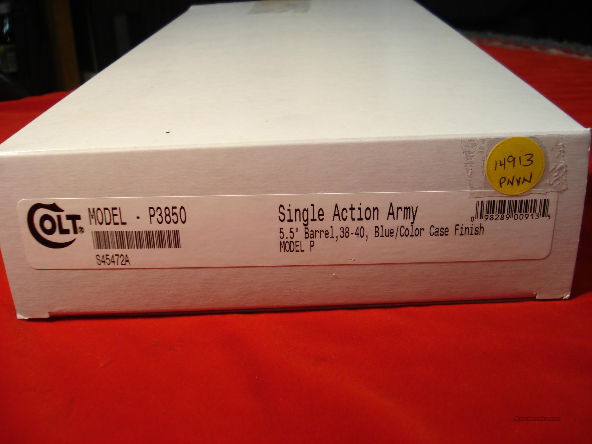 COLT NEW SINGLE ACTION ARMY 38-40CAL. 5 1/2 COLOR CASE FINISH  Guns > Pistols > Colt Single Action Revolvers - 3rd Gen.
