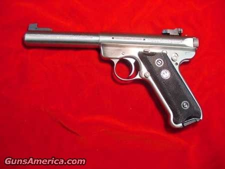 RUGER MKIII  5.5 STAINLESS  Guns > Pistols > Ruger Semi-Auto Pistols > Mark II Family