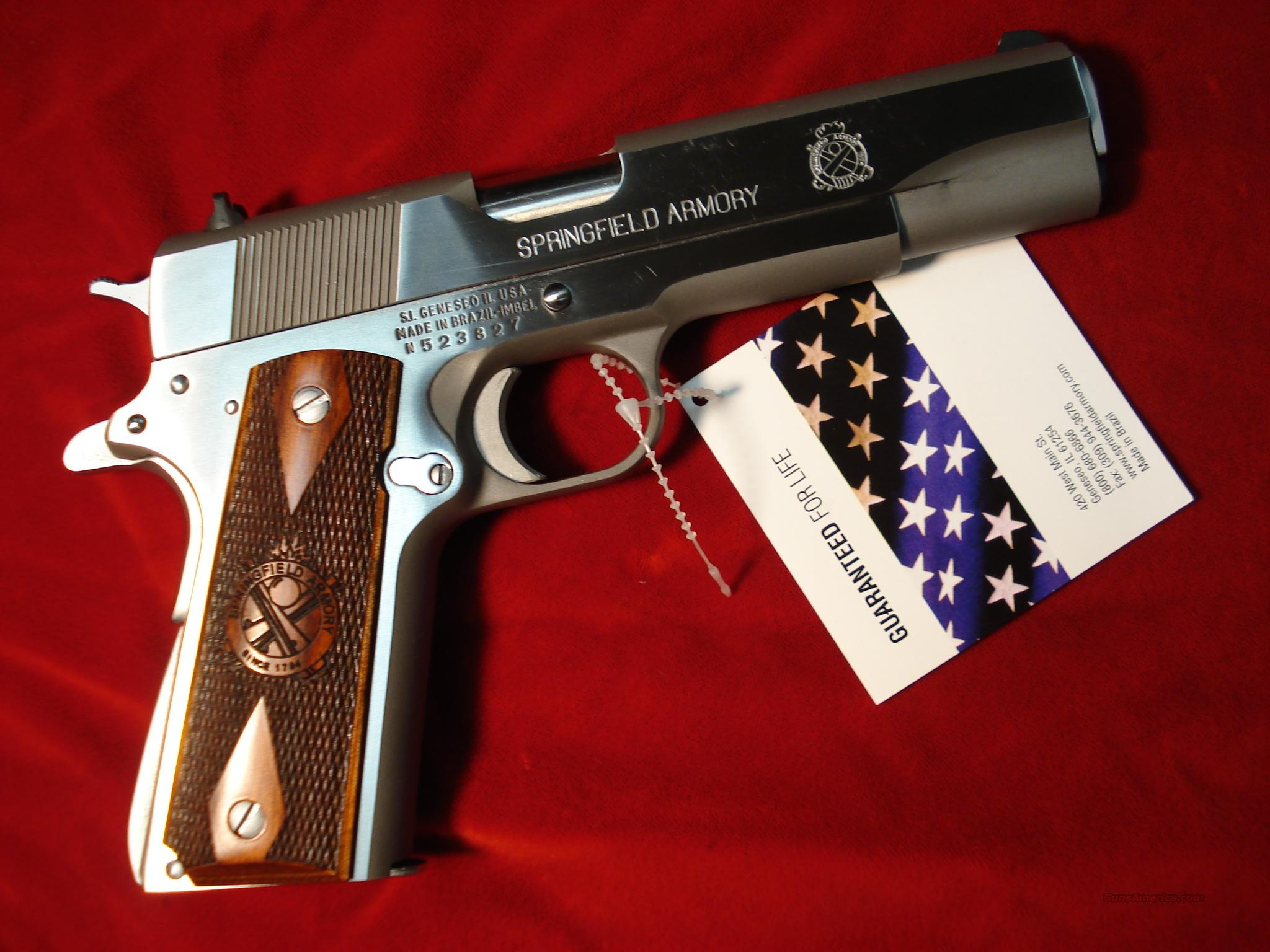 SPRINGFIELD ARMORY STAINLESS 1911A1  (PB9151LP)  Guns > Pistols > Springfield Armory Pistols > 1911 Type