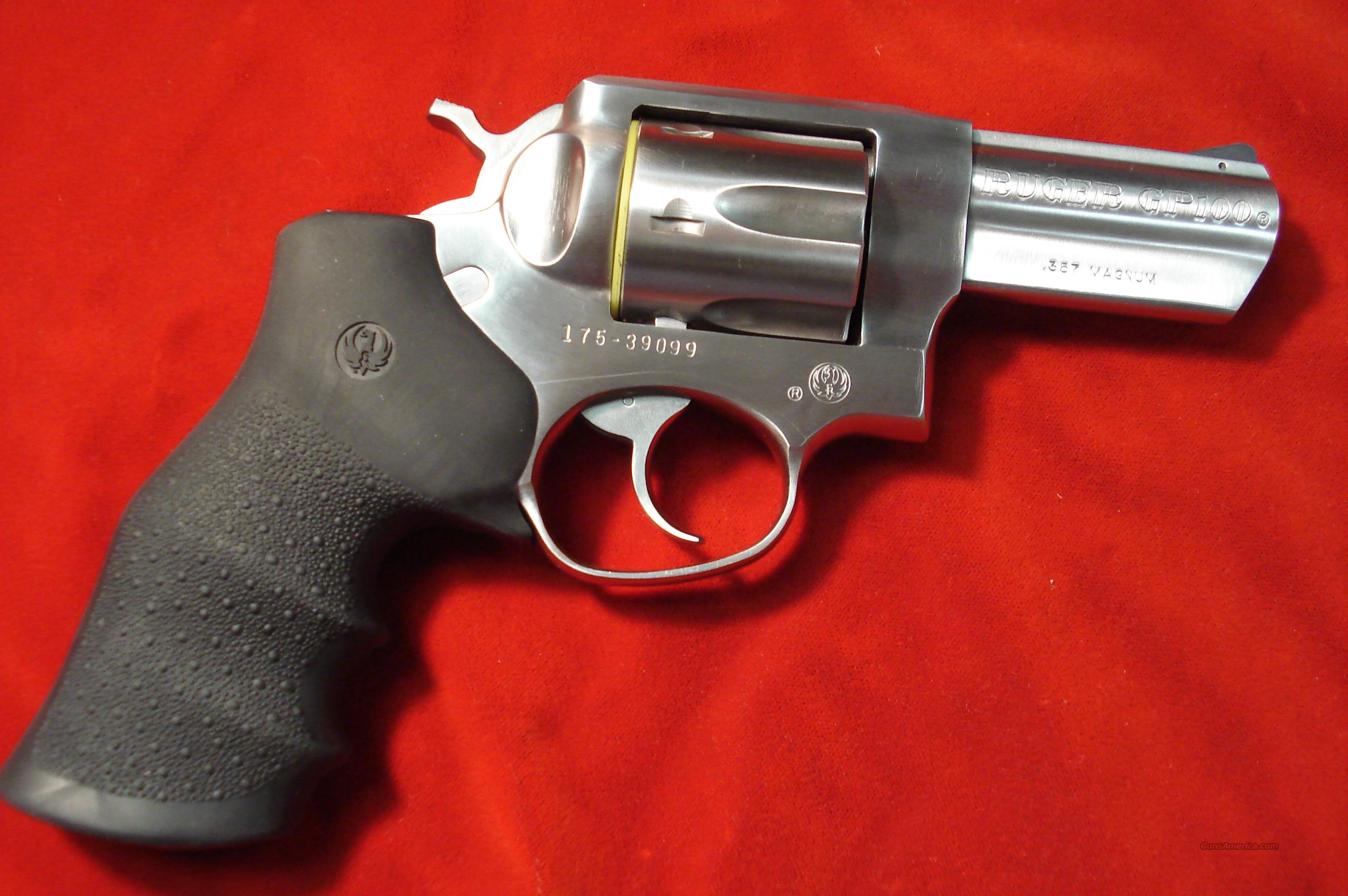 "RUGER NEW GP100 357MAG 3"" STAINLESS  Guns > Pistols > Ruger Double Action Revolver"