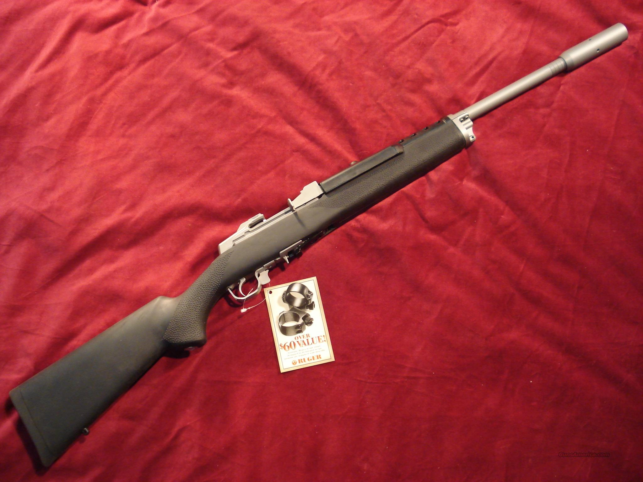 RUGER MINI 14 TARGET RIFLE W/HOGUE STOCK  Guns > Rifles > Ruger Rifles > Mini-14 Type