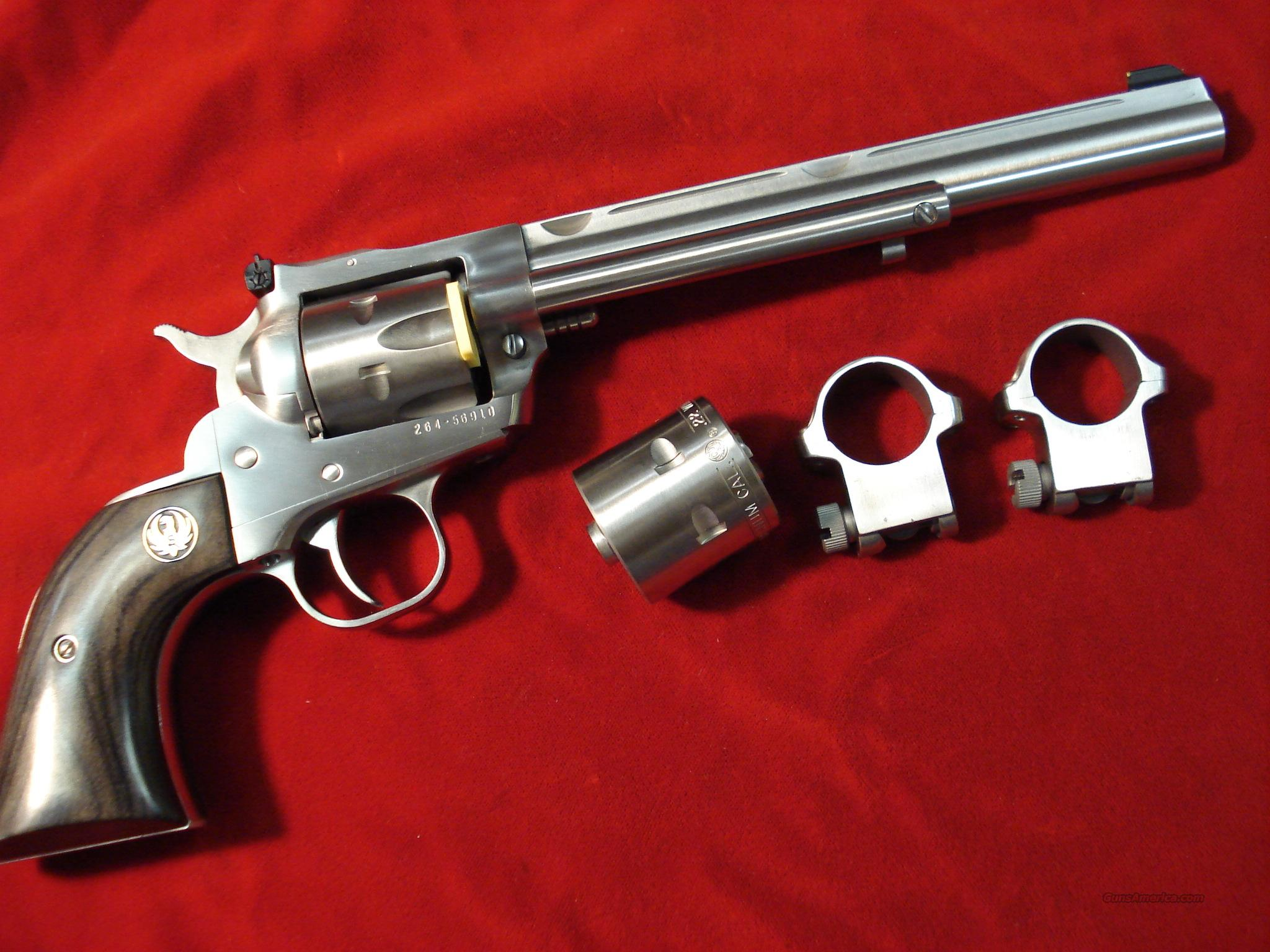 RUGER STAINLESS NEW MODEL SINGLE SIX HUNTER CONVERTABLE NEW  Guns > Pistols > Ruger Single Action Revolvers > Single Six Type