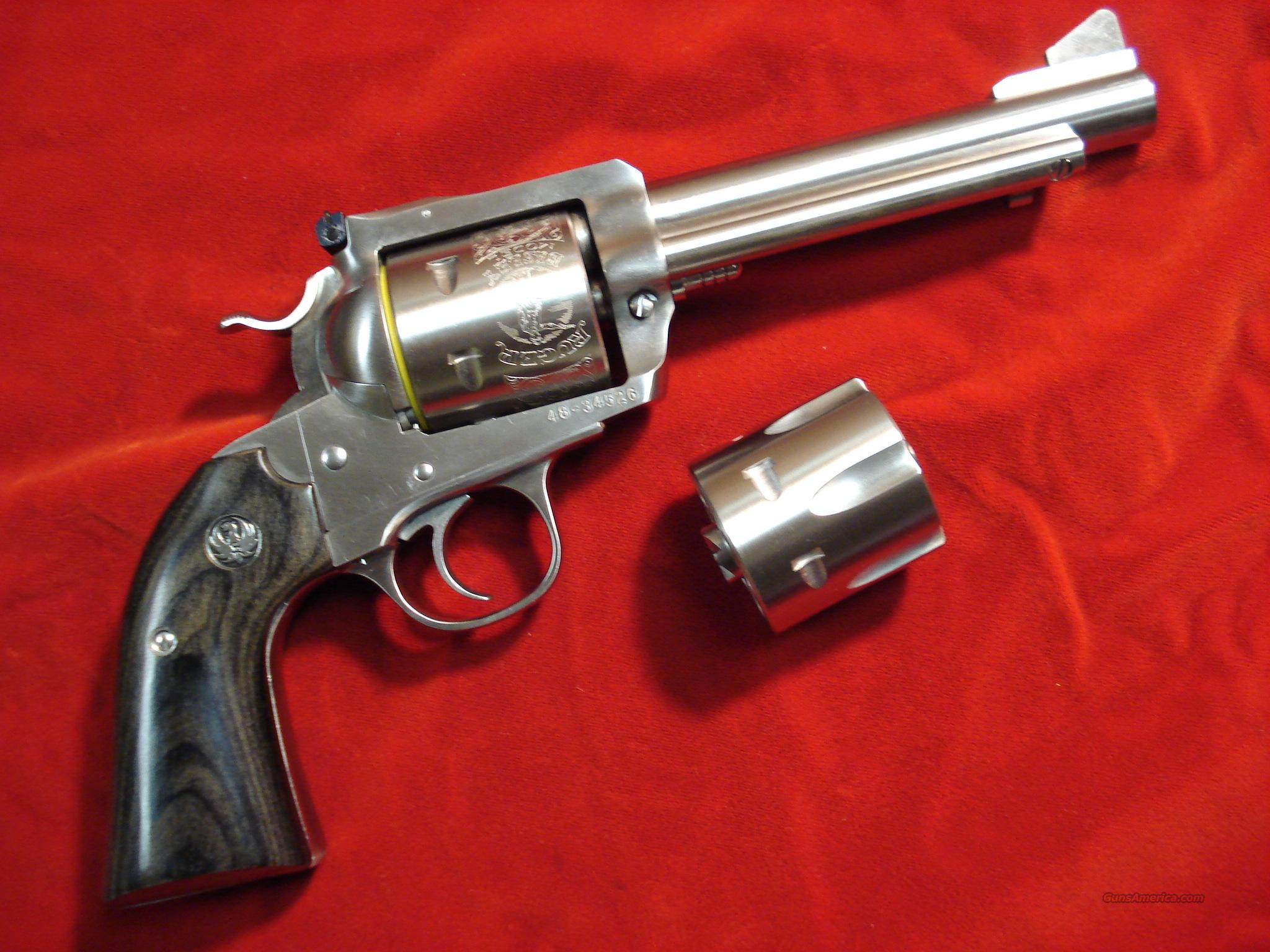 "RUGER BISLEY BLACKHAWK STAINLESS 45ACP/45COLT CONVERTABLE 5.5"" BARREL W/ADJUSTABLE SIGHTS   Guns > Pistols > Ruger Single Action Revolvers > Blackhawk Type"