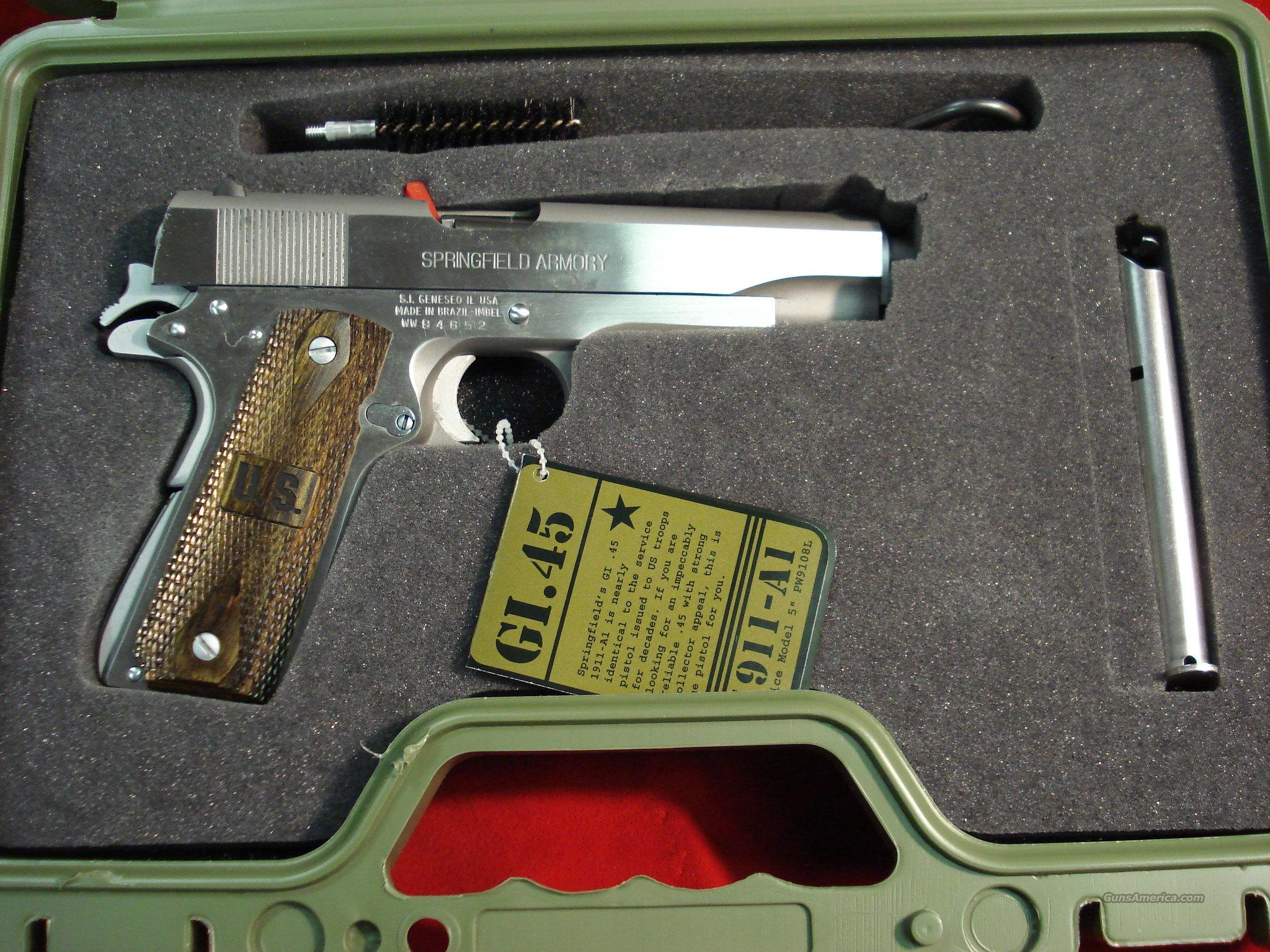 SPRINGFIELD ARMORY GI STAINLESS (PW9151LP)   Guns > Pistols > Springfield Armory Pistols > 1911 Type