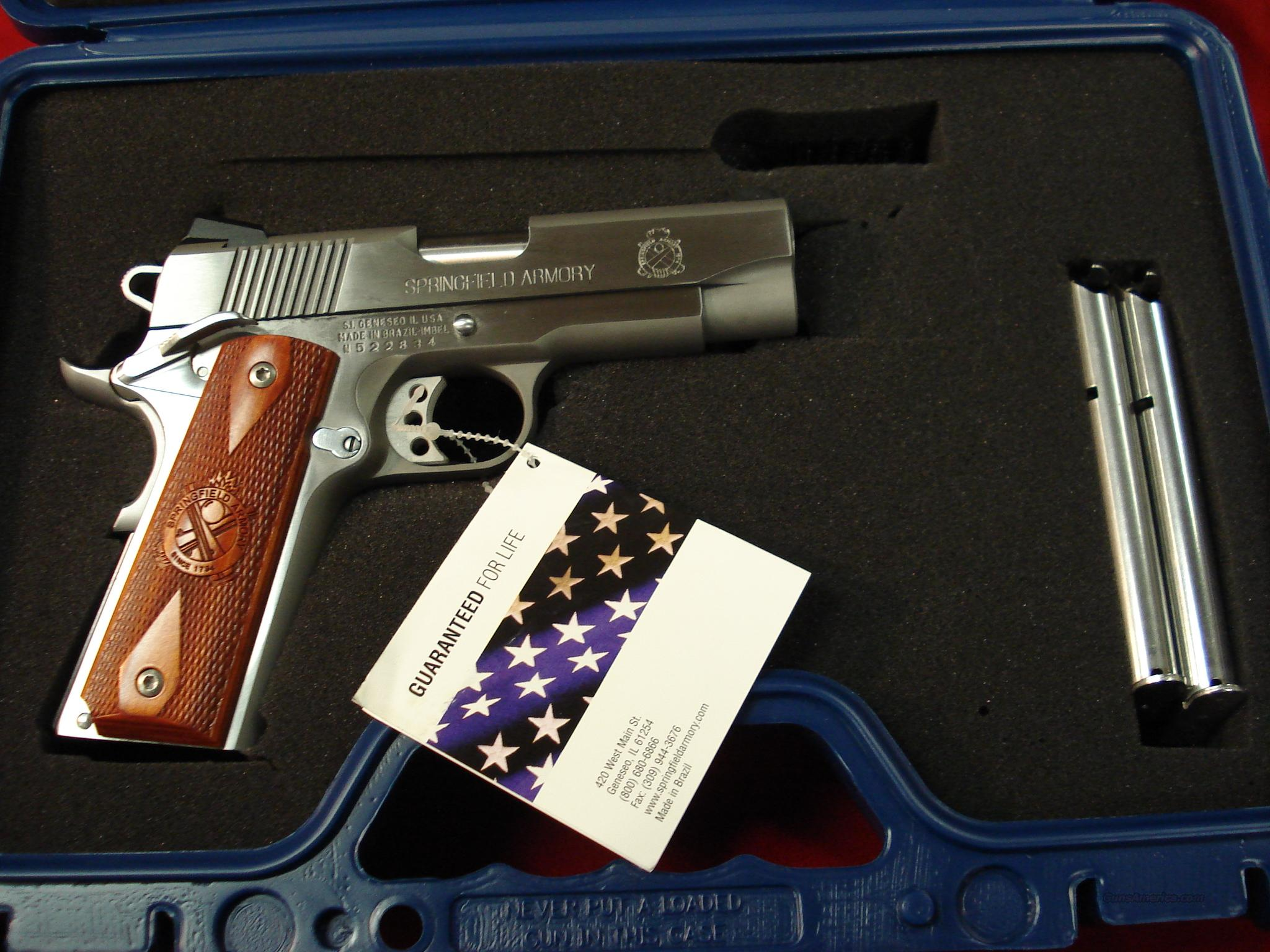SPRINGFIELD ARMORY CHAMP. S/S W/NIGHT SIGHTS (PX9142LP)  Guns > Pistols > Springfield Armory Pistols > 1911 Type