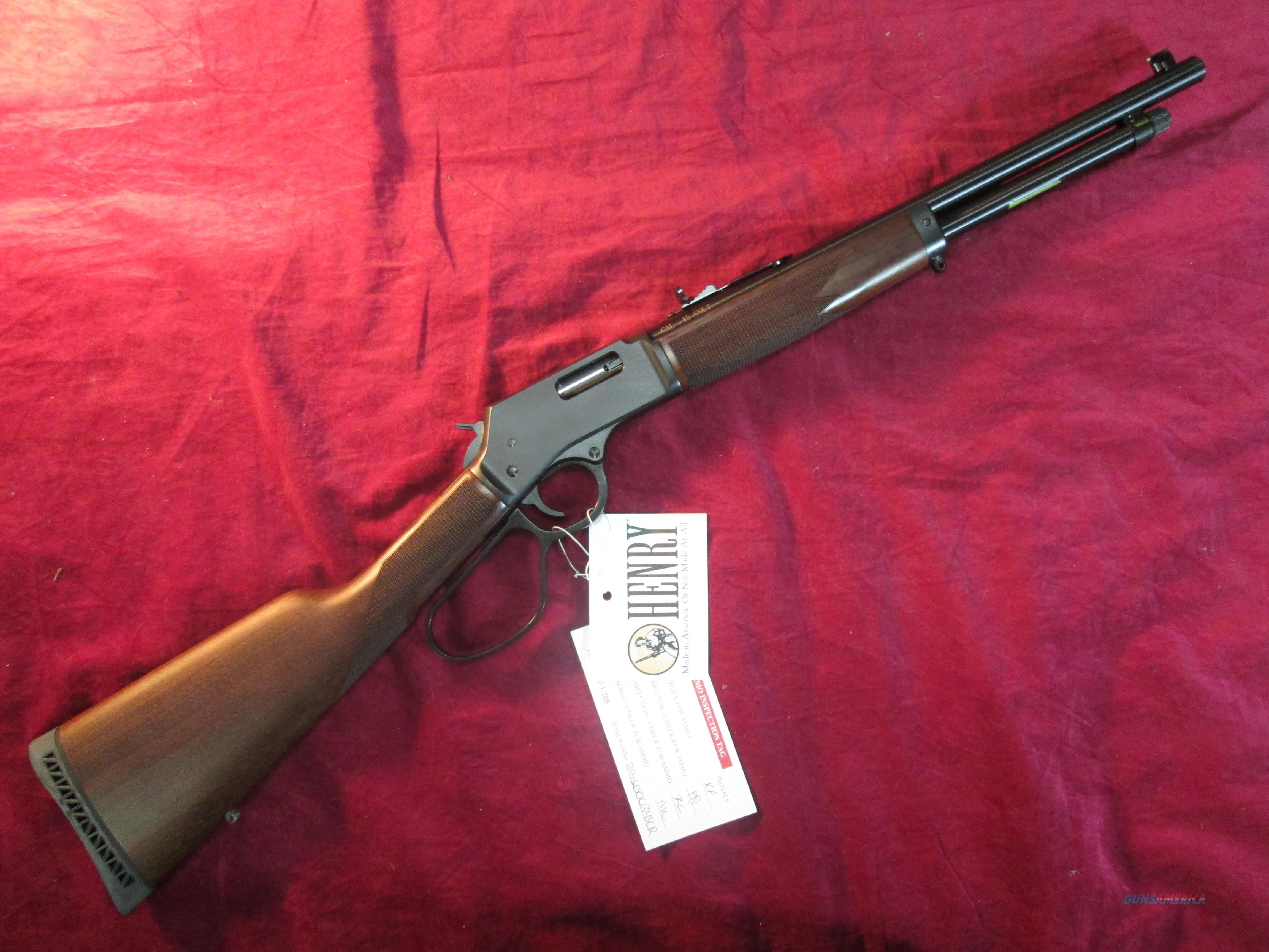 "HENRY BIG BOY STEEL LARGE LOOP LEVER ACTION 45LC. CAL. 16.5"" BARREL NEW (H012CR)   Guns > Rifles > Henry Rifle Company"