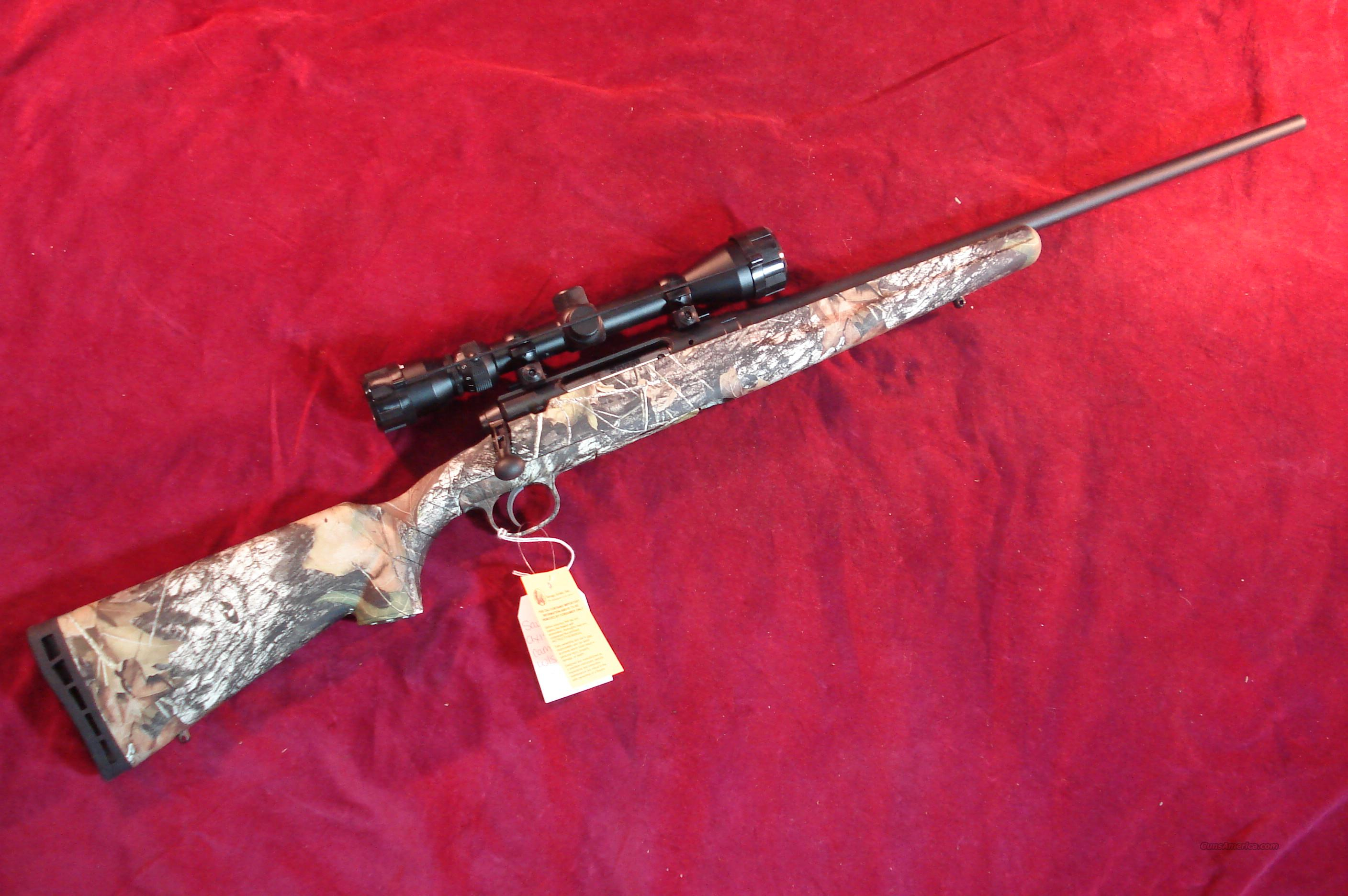 SAVAGE AXIS XP .308 CAL W/SCOPE AND CAMO SYNTHETIC STOCK NEW  Guns > Rifles > Savage Rifles > Standard Bolt Action > Sporting