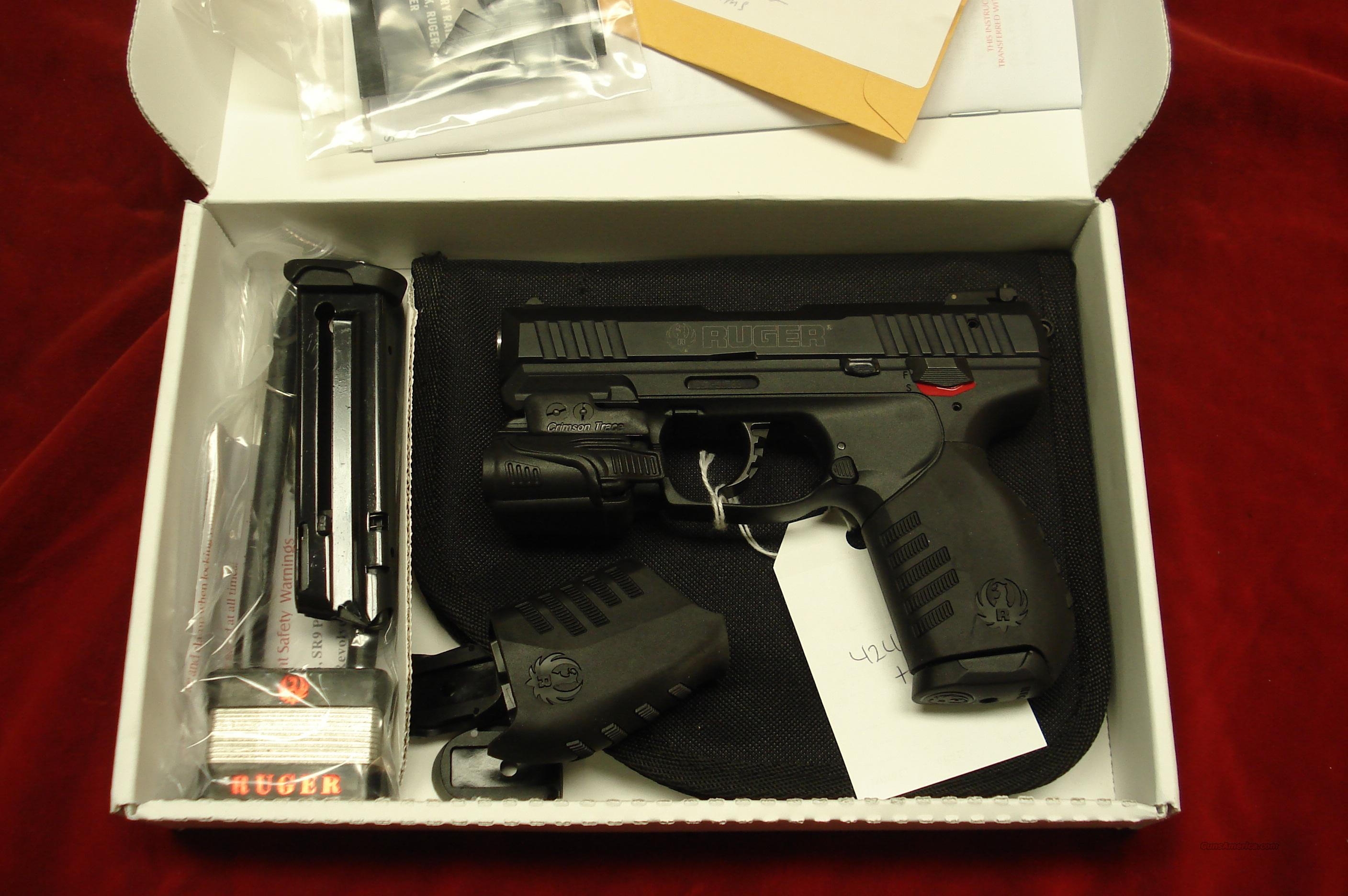 RUGER SR22 PISTOL WITH CRIMSON TRACE LIGHT  NEW (SR22P-CTL)  Guns > Pistols > Ruger Semi-Auto Pistols > SR9 & SR40