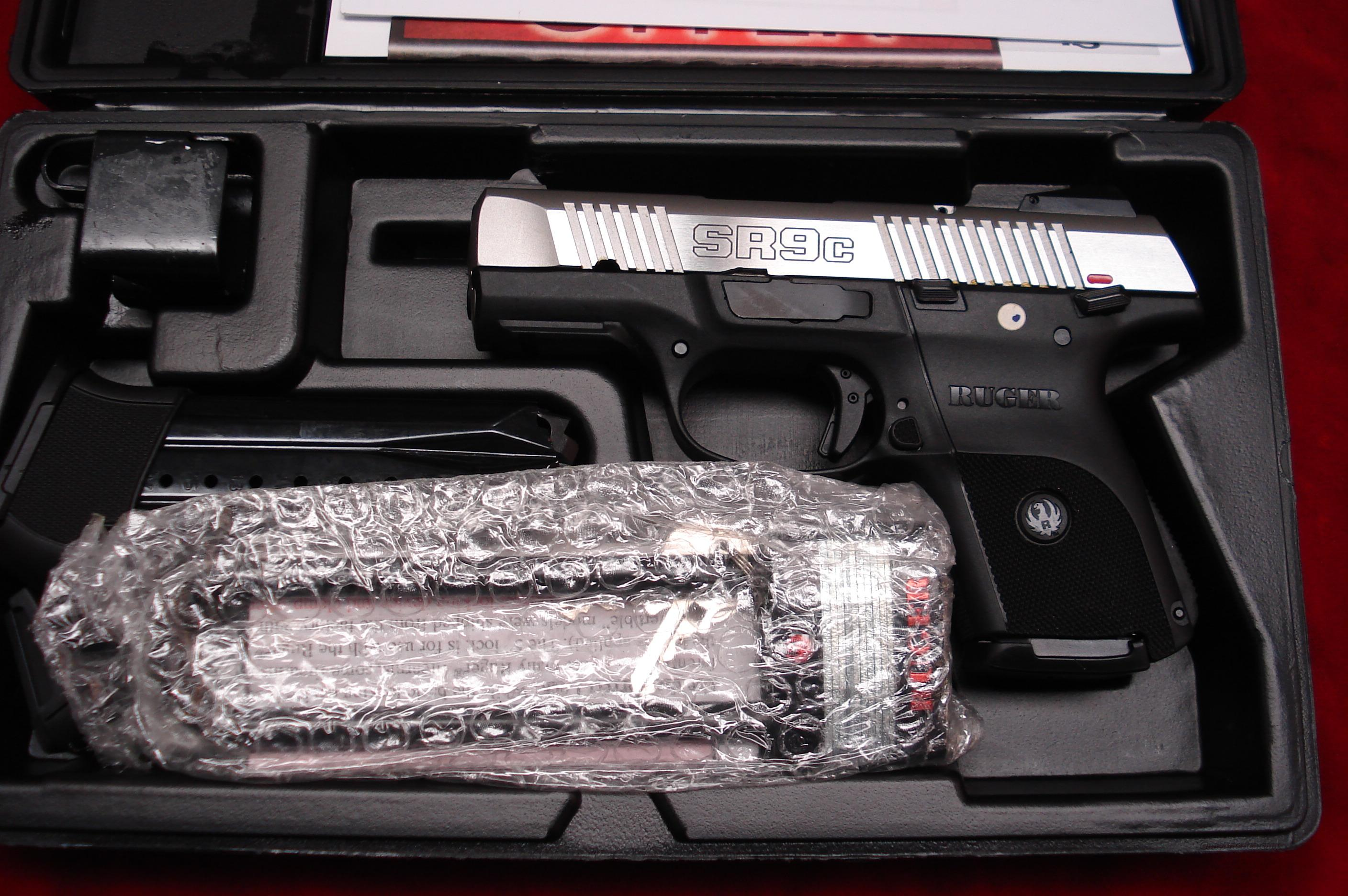 RUGER  SR9C (COMPACT) STAINLESS NEW (IN STOCK)! (KSR9C)   Guns > Pistols > Ruger Semi-Auto Pistols > SR Family > SR9C