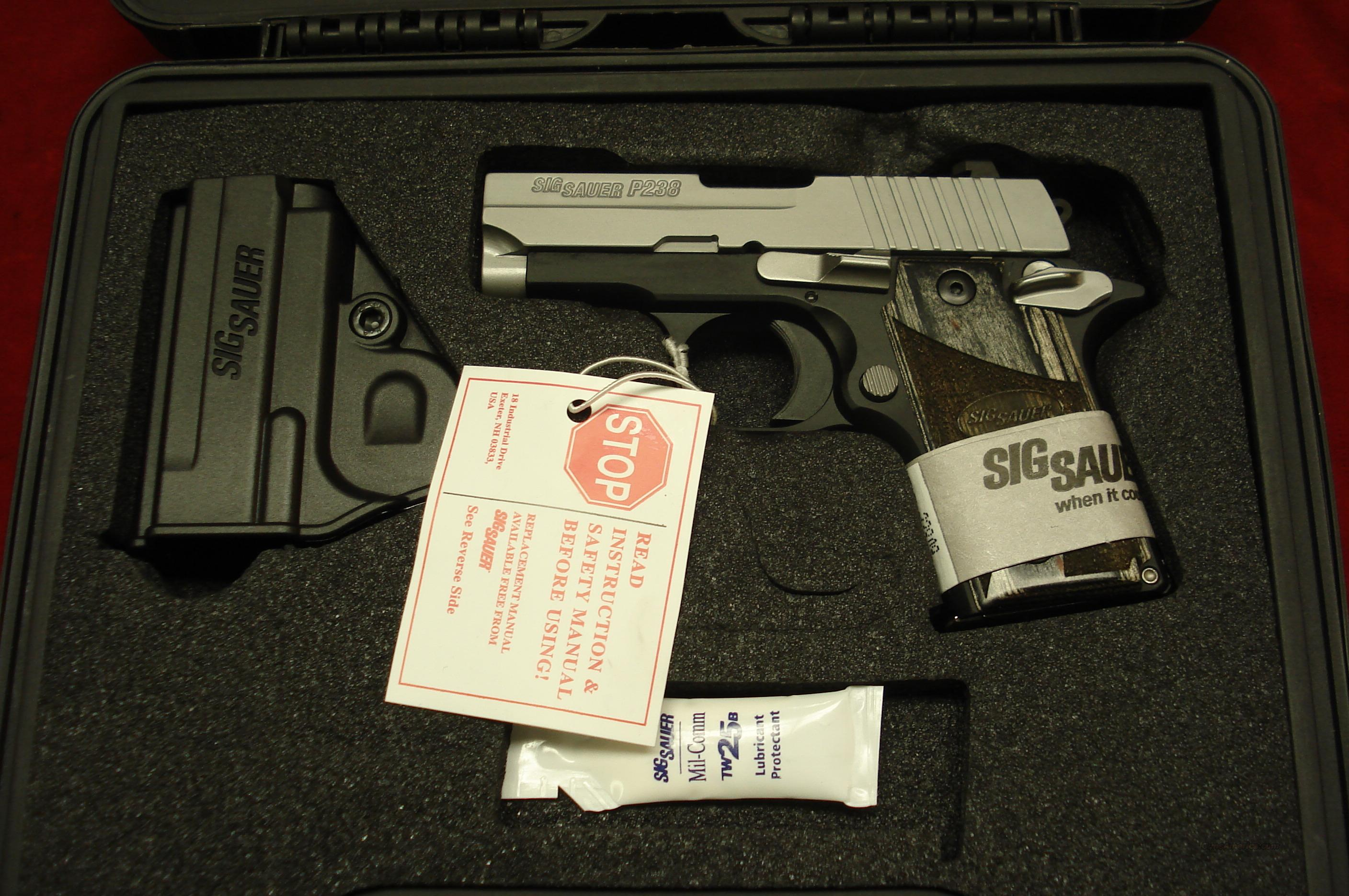 SIG P238 STAINLESS DUO-TONE 380CAL. NIGHT SIGHTS AND NEW AMBI. SAFETY NEW   Guns > Pistols > Sig - Sauer/Sigarms Pistols > Other