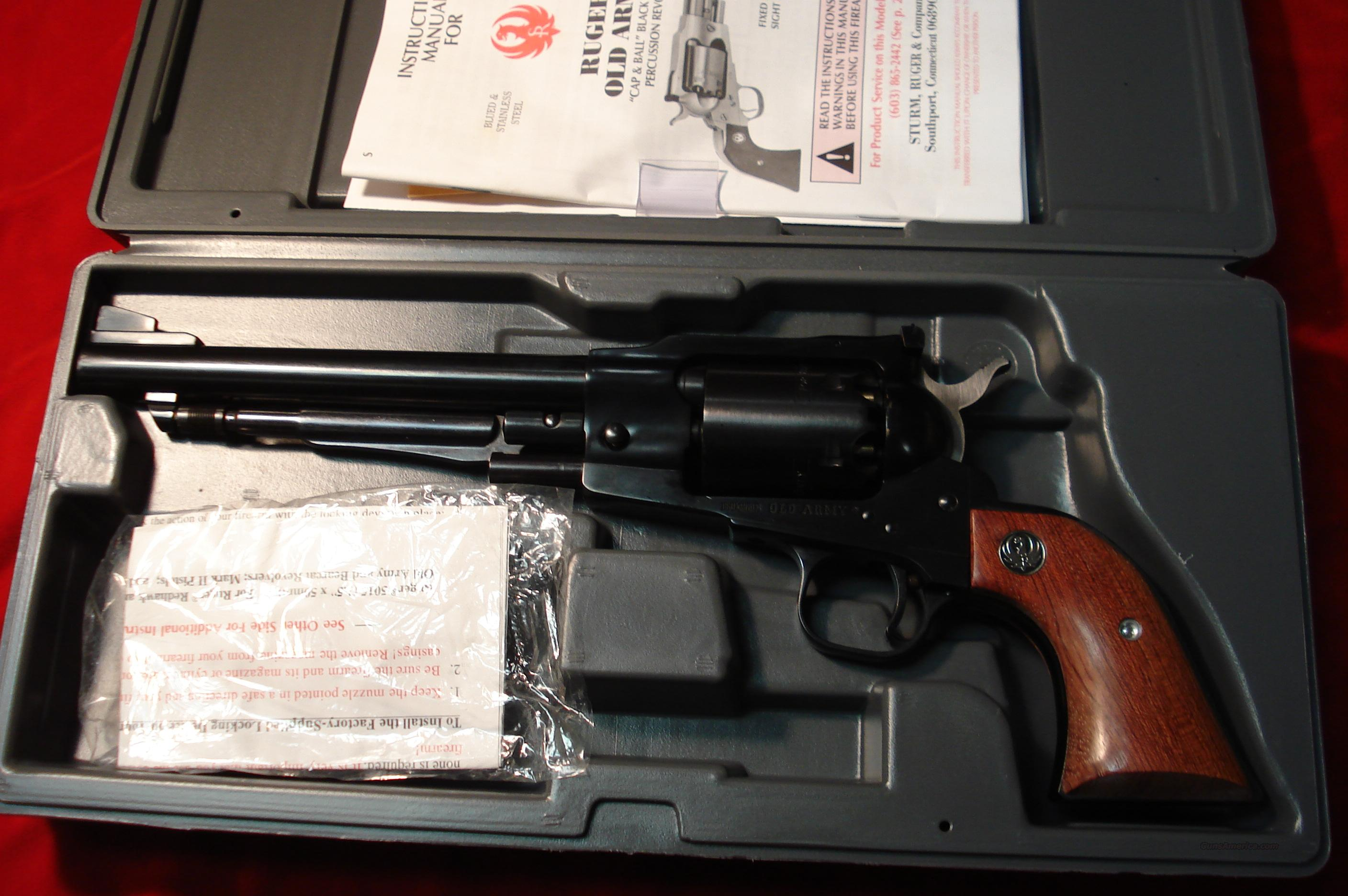 "RUGER OLD ARMY REVOLVER 7.5"" BLUE ADJ/SIGHT NEW  Guns > Pistols > Ruger Cap & Ball Revolvers"