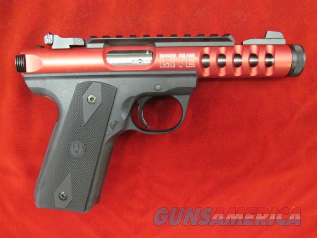 RUGER 22/45 LITE RED ANODIZED W/ THREADED BARREL NEW  Guns > Pistols > Ruger Semi-Auto Pistols > 22/45