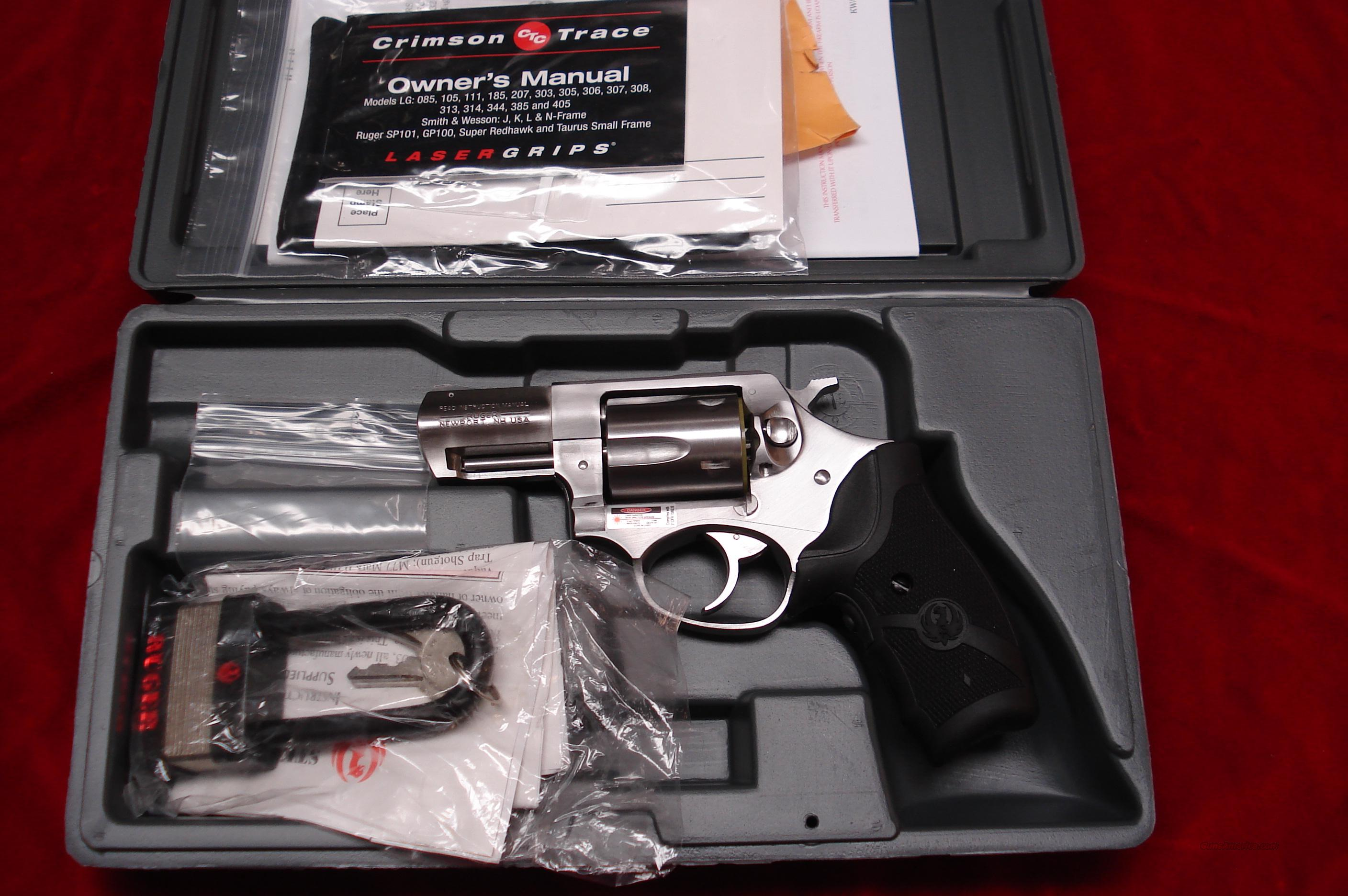 RUGER  SP101 357CAL. W/CRIMSON TRACE LASER GRIPS NEW  (KSP-321X-LG)  Guns > Pistols > Ruger Double Action Revolver > SP101 Type