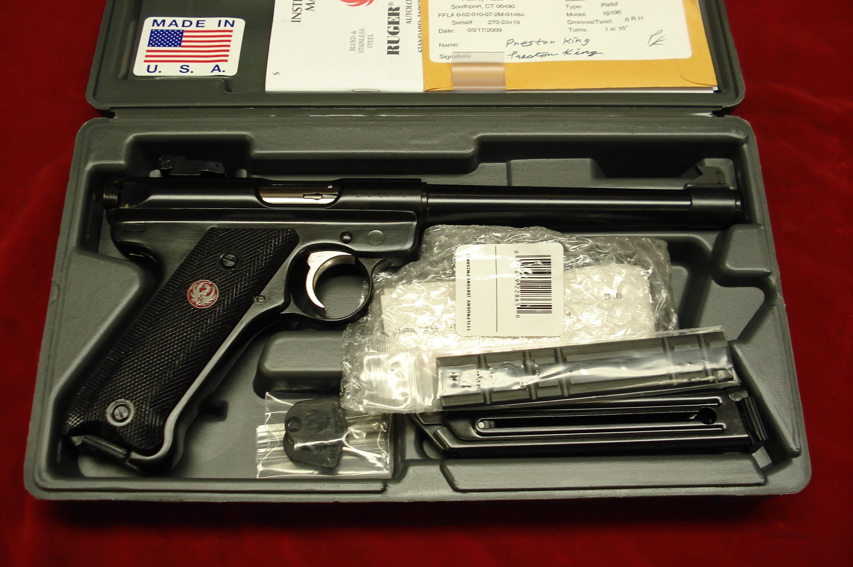 "RUGER MKIII 6 7/8"" BLUE W/ADJUSTABLE SIGHTS NEW (MKIII678)  Guns > Pistols > Ruger Semi-Auto Pistols > Mark I & II Family"