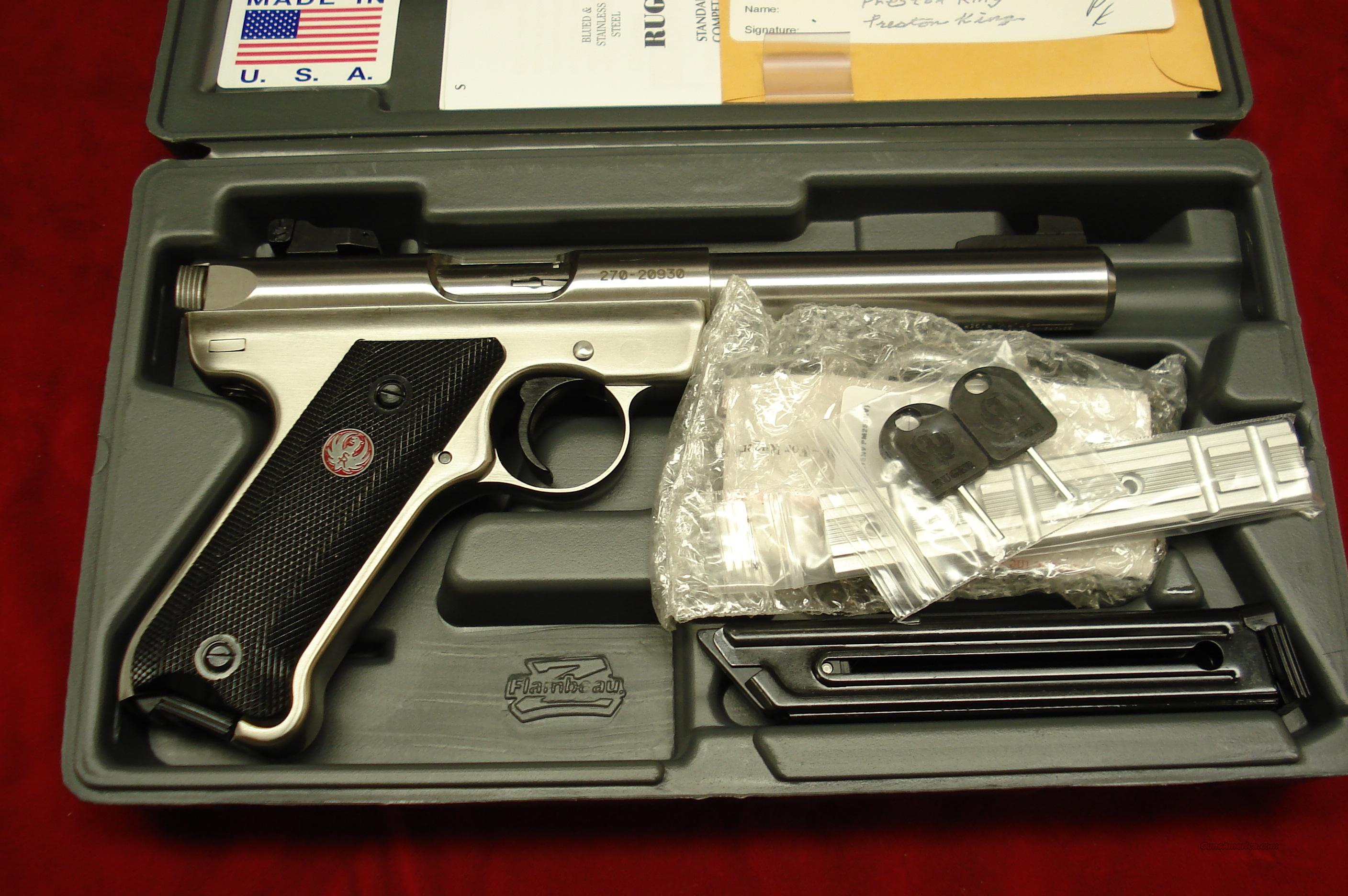 RUGER MKIII 5.5 STAINLESS BULL BARREL NEW (KMKIII512)   Guns > Pistols > Ruger Semi-Auto Pistols > Mark I & II Family