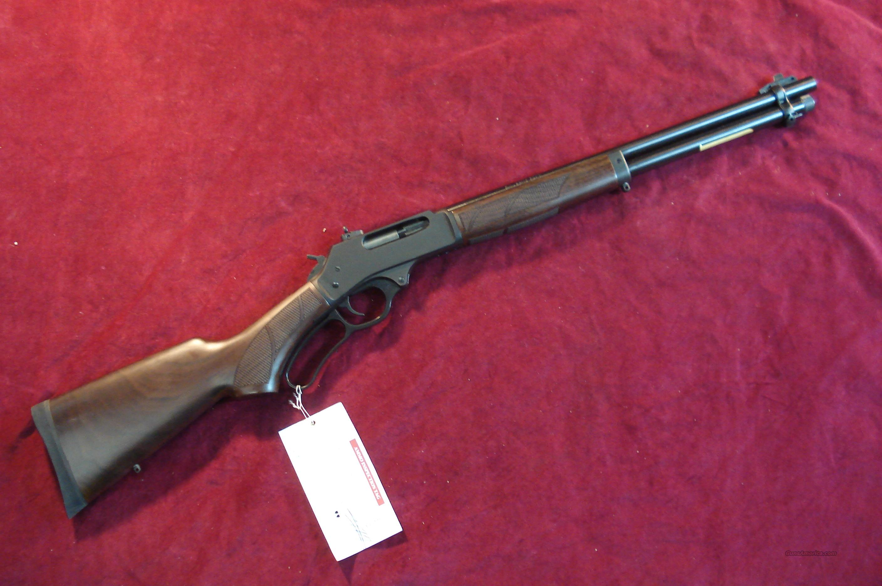 HENRY 45-70 CAL. BLUE STEEL RECEIVER WITH ROUND BARREL NEW  Guns > Rifles > Henry Rifle Company