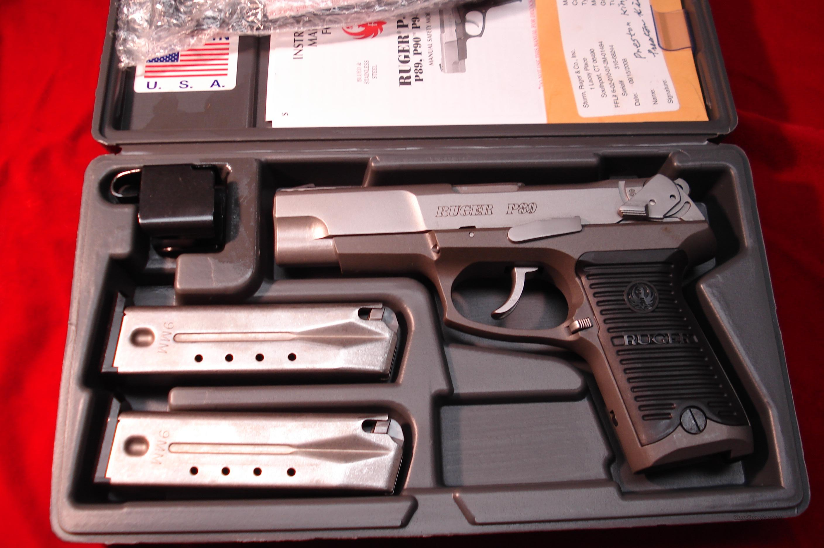 RUGER KP89 STAINLESS 9MM HIGH CAP NEW  Guns > Pistols > Ruger Semi-Auto Pistols > Full Frame Autos