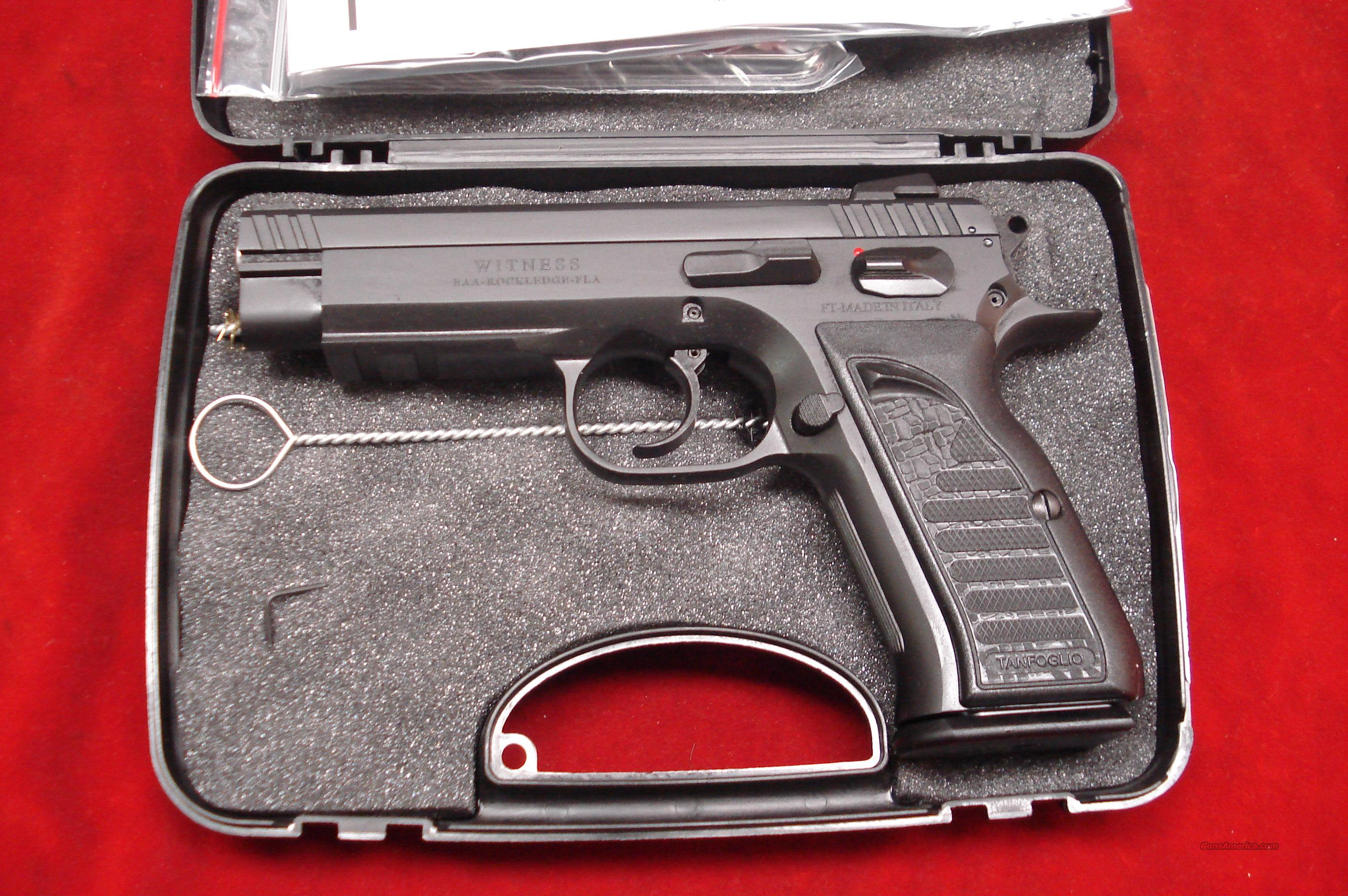 EAA TANFOGLIO WITNESS 10MM CAL. BLUE NEW  Guns > Pistols > EAA Pistols > Other