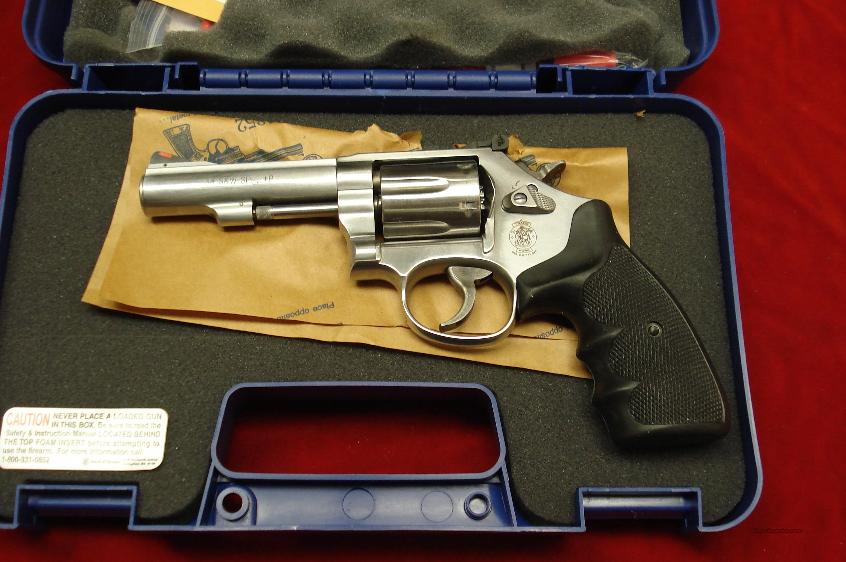"SMITH AND WESSON MODEL 67  STAINLESS 4"" 38SPL.  NEW   Guns > Pistols > Smith & Wesson Revolvers > Full Frame Revolver"