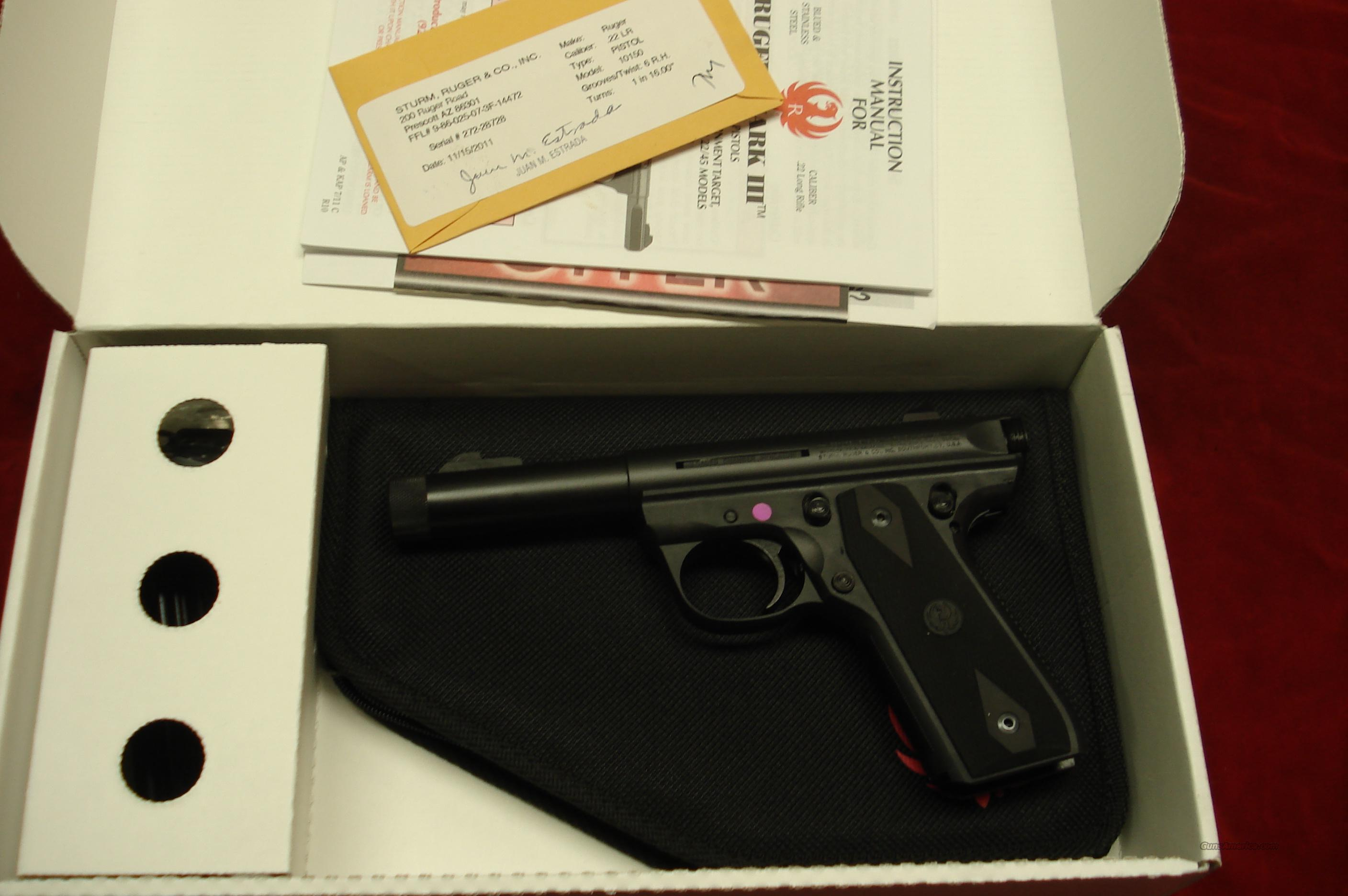 "RUGER 22/45 MKIII 4.5"" THREADED BULL NEW (P45GMK3RPI)  Guns > Pistols > Ruger Semi-Auto Pistols > Mark I & II Family"
