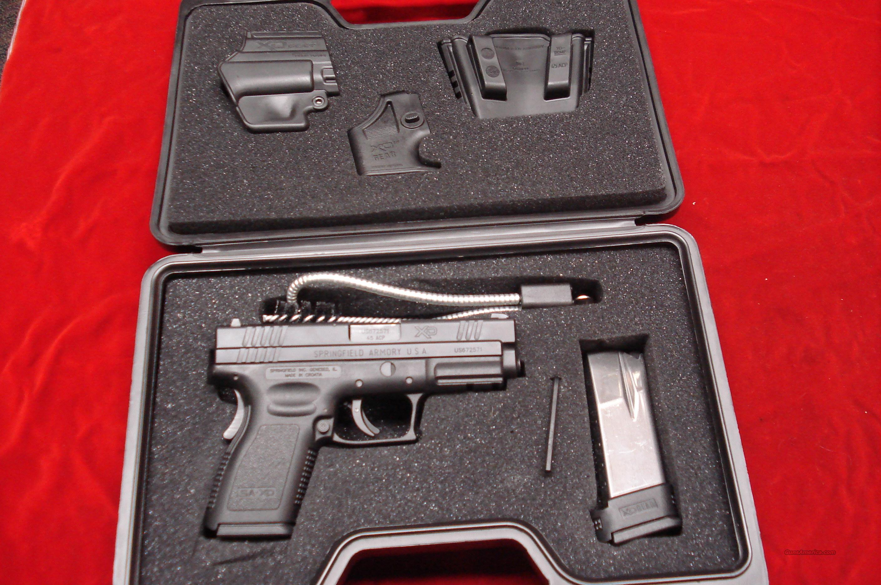 SPRINGFIELD ARMORY XD 45ACP COMPACT HIGH CAPACITY PACKAGE NEW  Guns > Pistols > Springfield Armory Pistols > XD (eXtreme Duty)