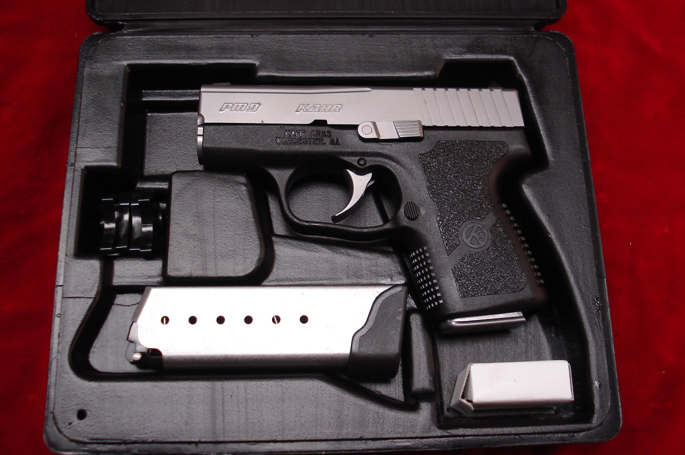KAHR ARMS PM9 9MM STAINLESS NEW  Guns > Pistols > Kahr Pistols