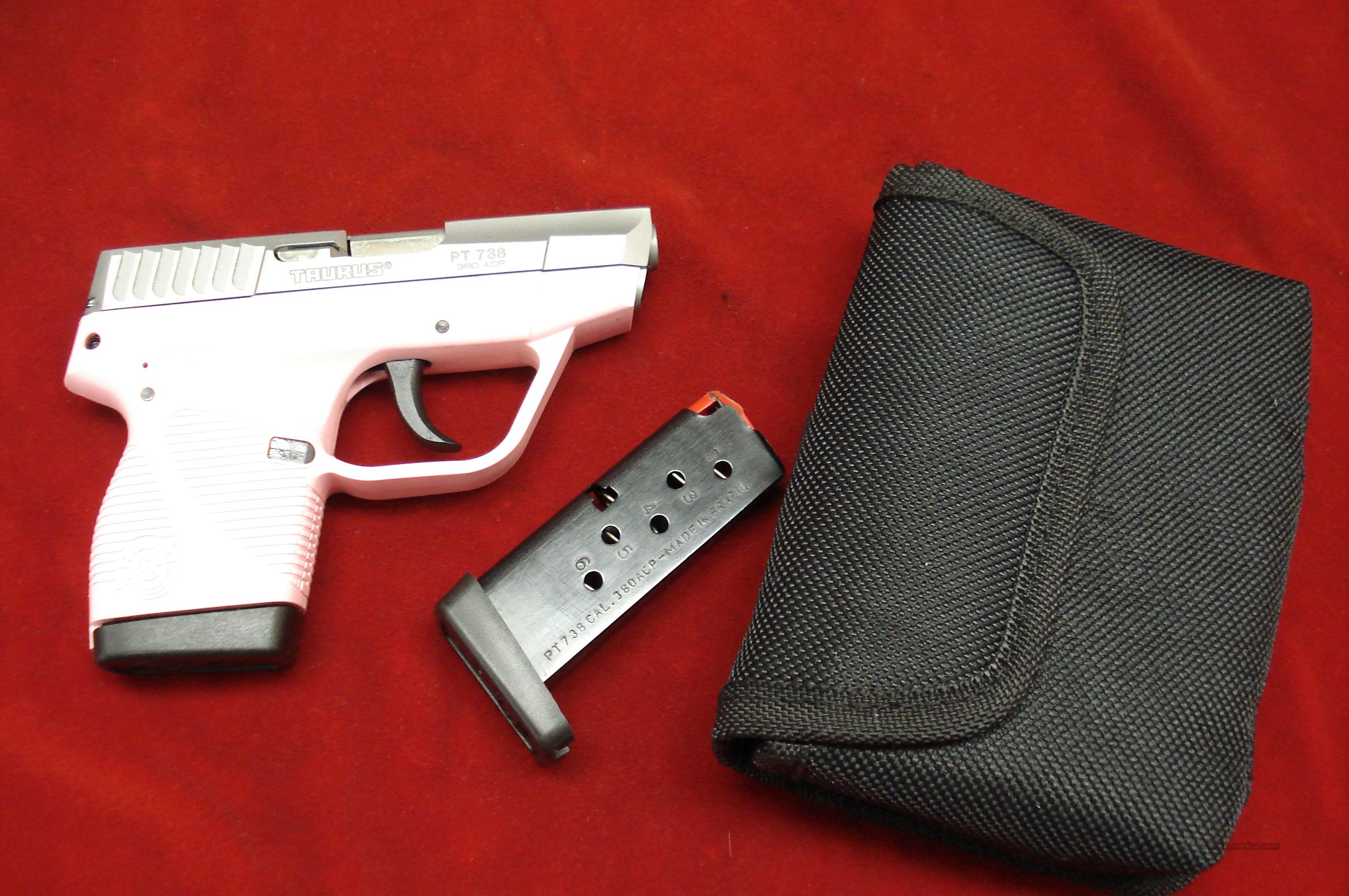 TAURUS PT738 TCP PINK/STAINLESS 380 CAL. NEW   Guns > Pistols > Taurus Pistols/Revolvers > Pistols > Polymer Frame