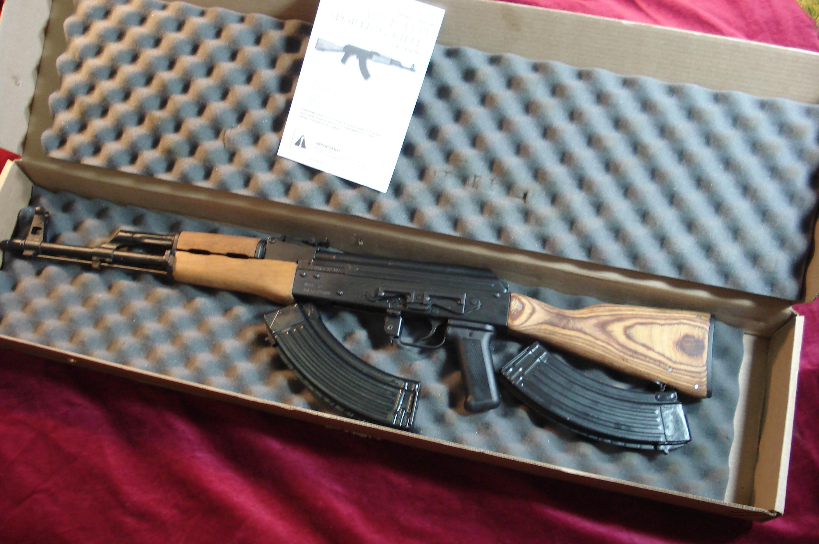 CENTURY INT'L ROMANIAN AK 47 FULL WOOD STOCK 7.62X39 CAL. W/SLANT BREAK NEW  Guns > Rifles > AK-47 Rifles (and copies) > Full Stock