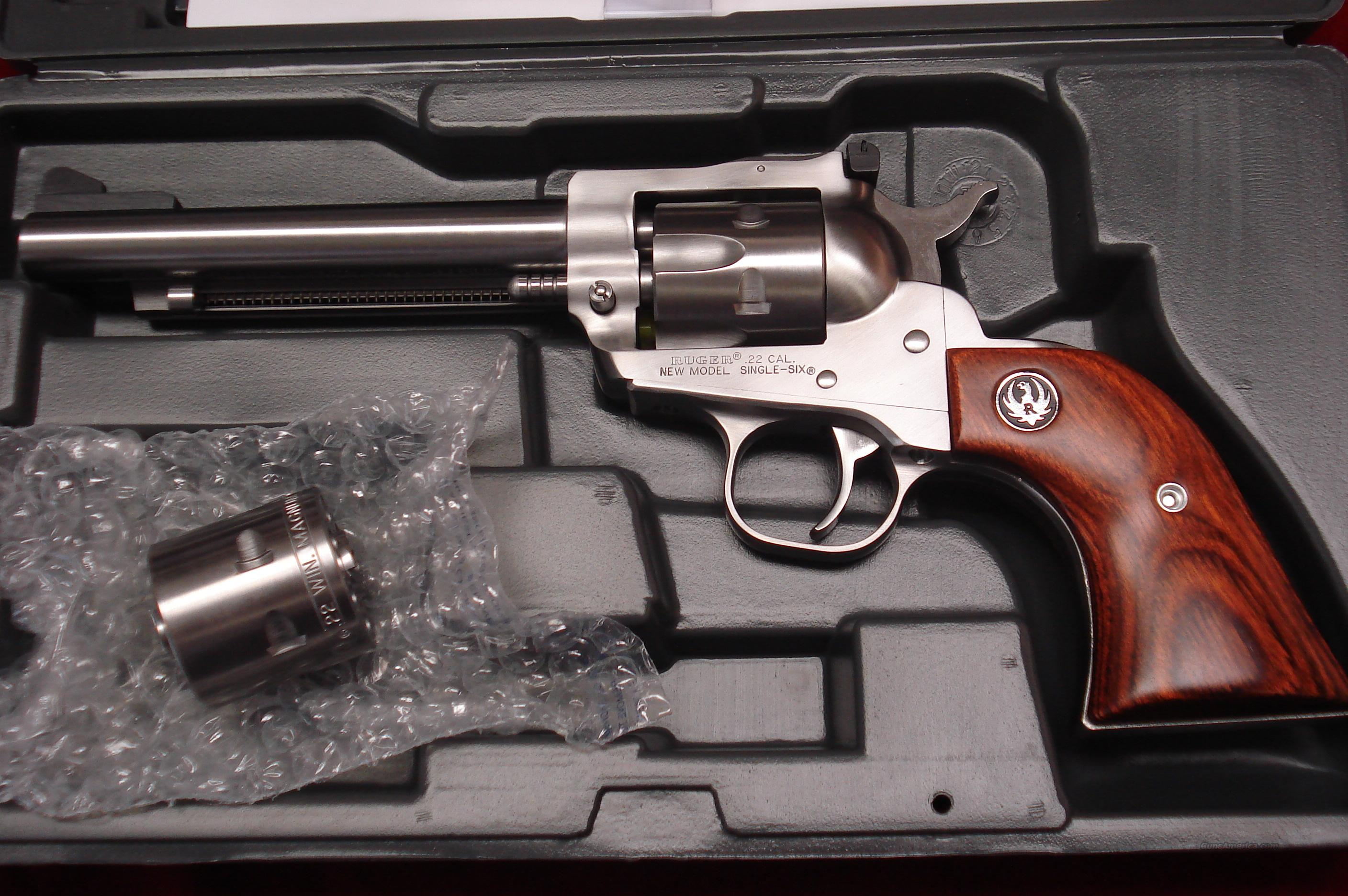 "RUGER SUPER SINGLE-SIX 5.5"" STAINLESS NEW (KNR-5)   (00625)  Guns > Pistols > Ruger Single Action Revolvers > Single Six Type"
