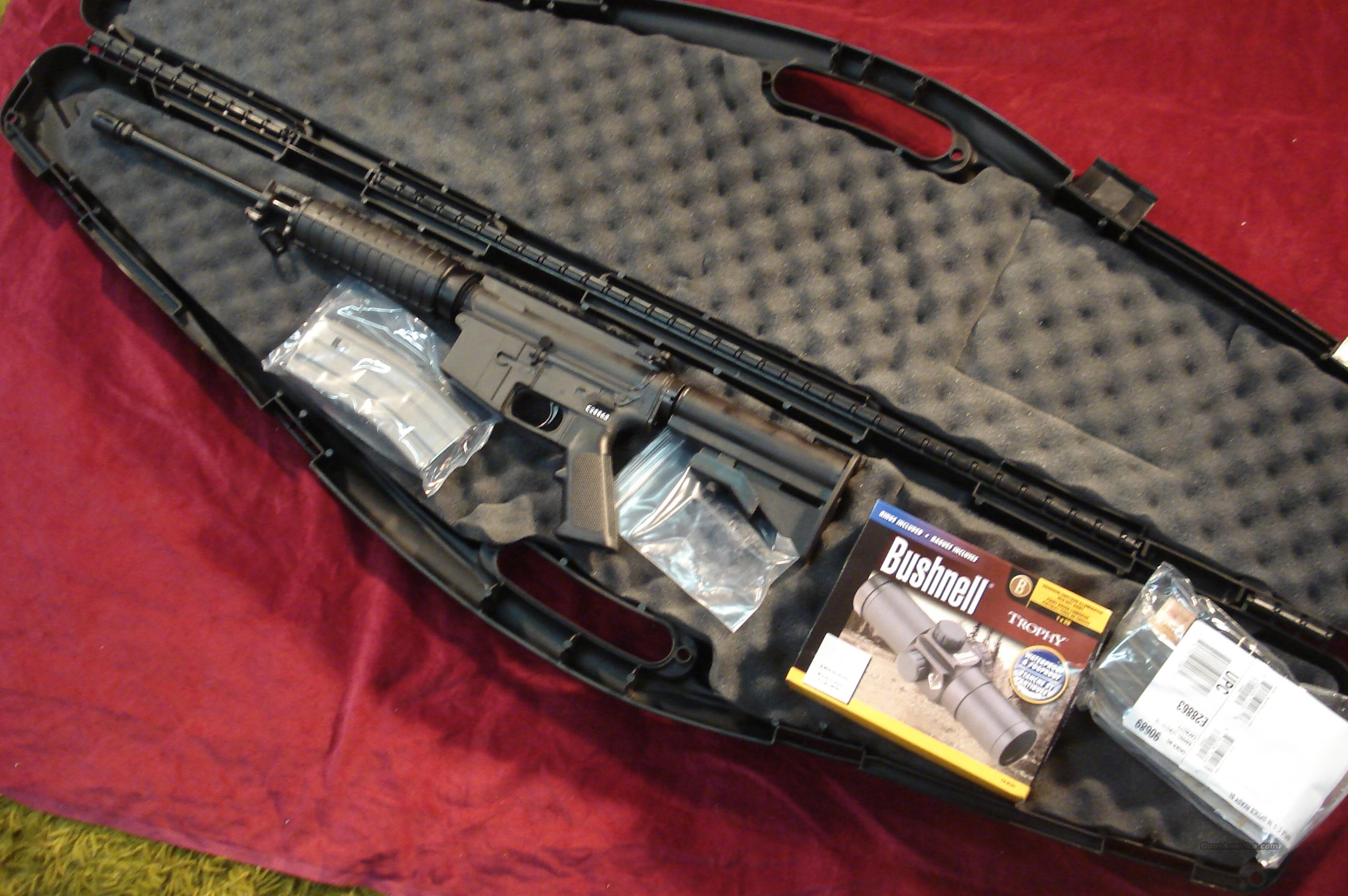 BUSHMASTER CARBON 15 223CAL. WITH RED DOT SCOPE NEW  Guns > Rifles > Bushmaster Rifles > Complete Rifles