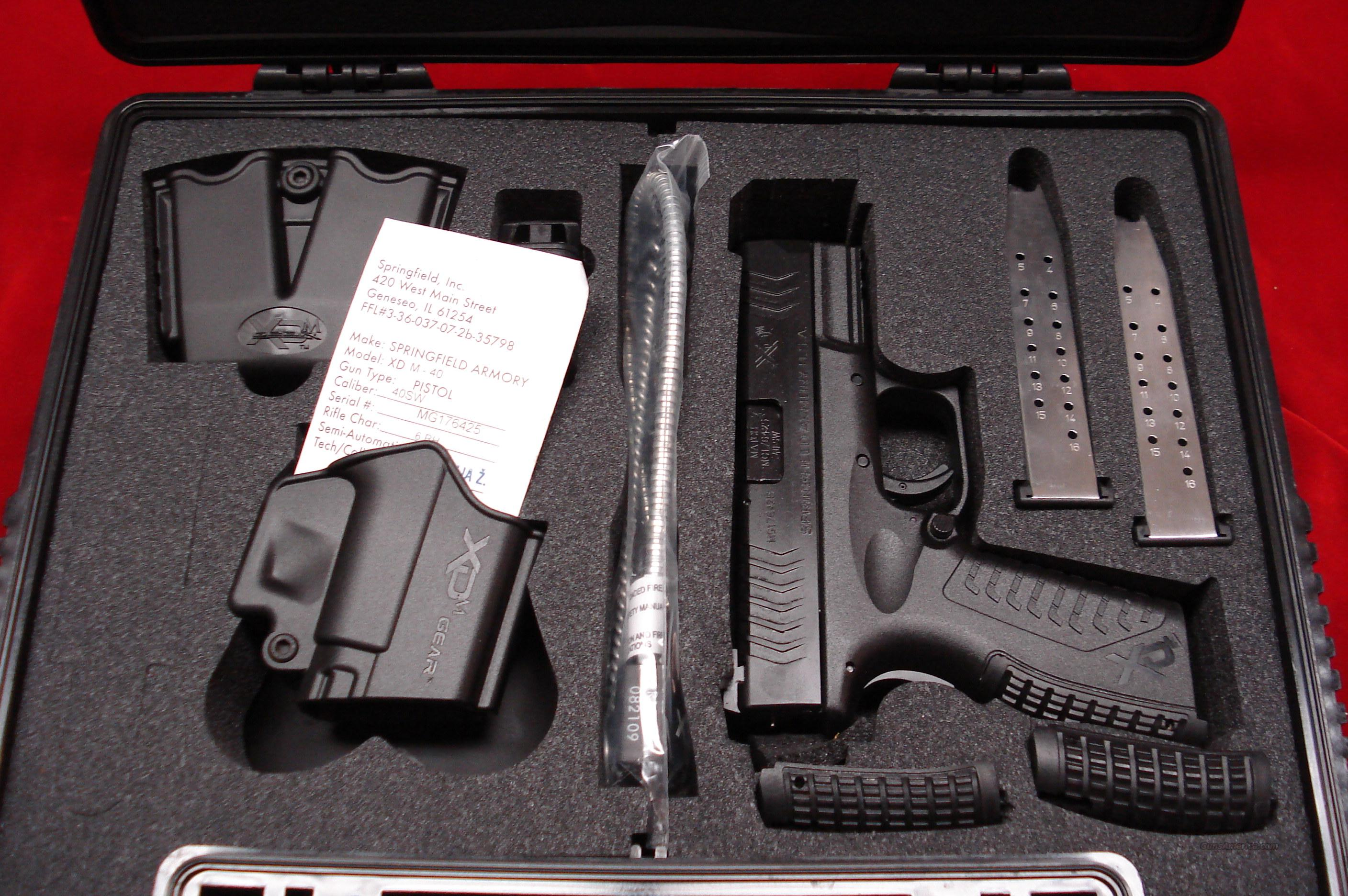 SPRINGFIELD ARMORY XDM 3.8 COMPACT .40 CAL. NEW   Guns > Pistols > Springfield Armory Pistols > XD (eXtreme Duty)