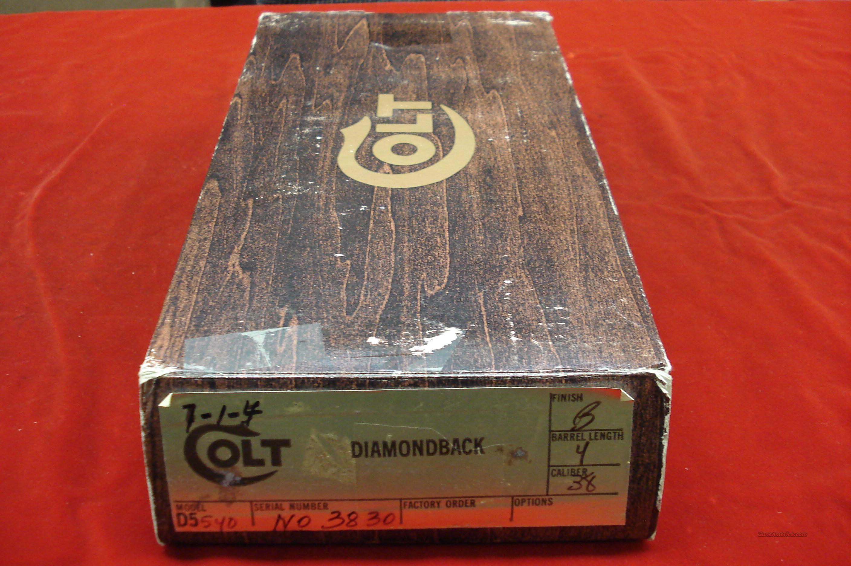 "COLT DIAMONDBACK  38 SPECIAL 4"" BARREL BLUED NEW  Guns > Pistols > Colt Double Action Revolvers- Modern"