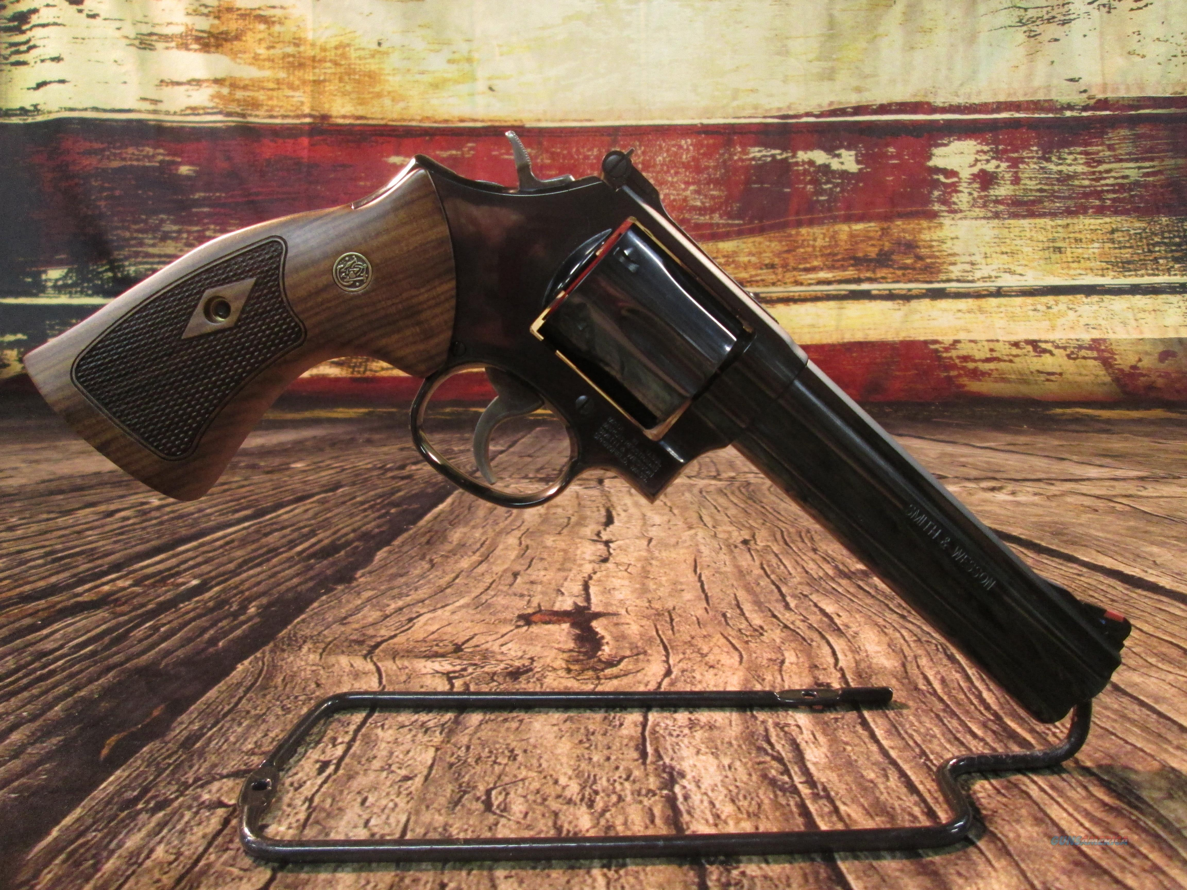 "SMITH AND WESSON MODEL 586 CLASSIC 6"" BLUE 357CAL. NEW (150908)  Guns > Pistols > Smith & Wesson Revolvers > Med. Frame ( K/L )"