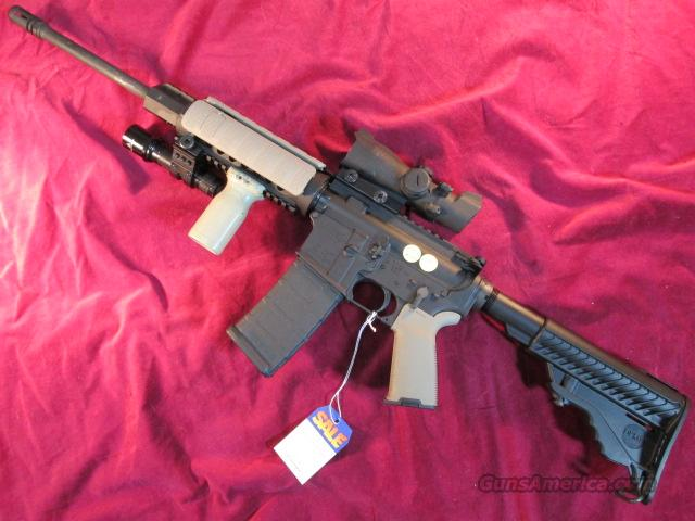 DPMS ORACLE W/ SCOPE, FLASHLIGHT AND MAGPUL DESERT EQUIPMENT USED  Guns > Rifles > DPMS - Panther Arms > Complete Rifle