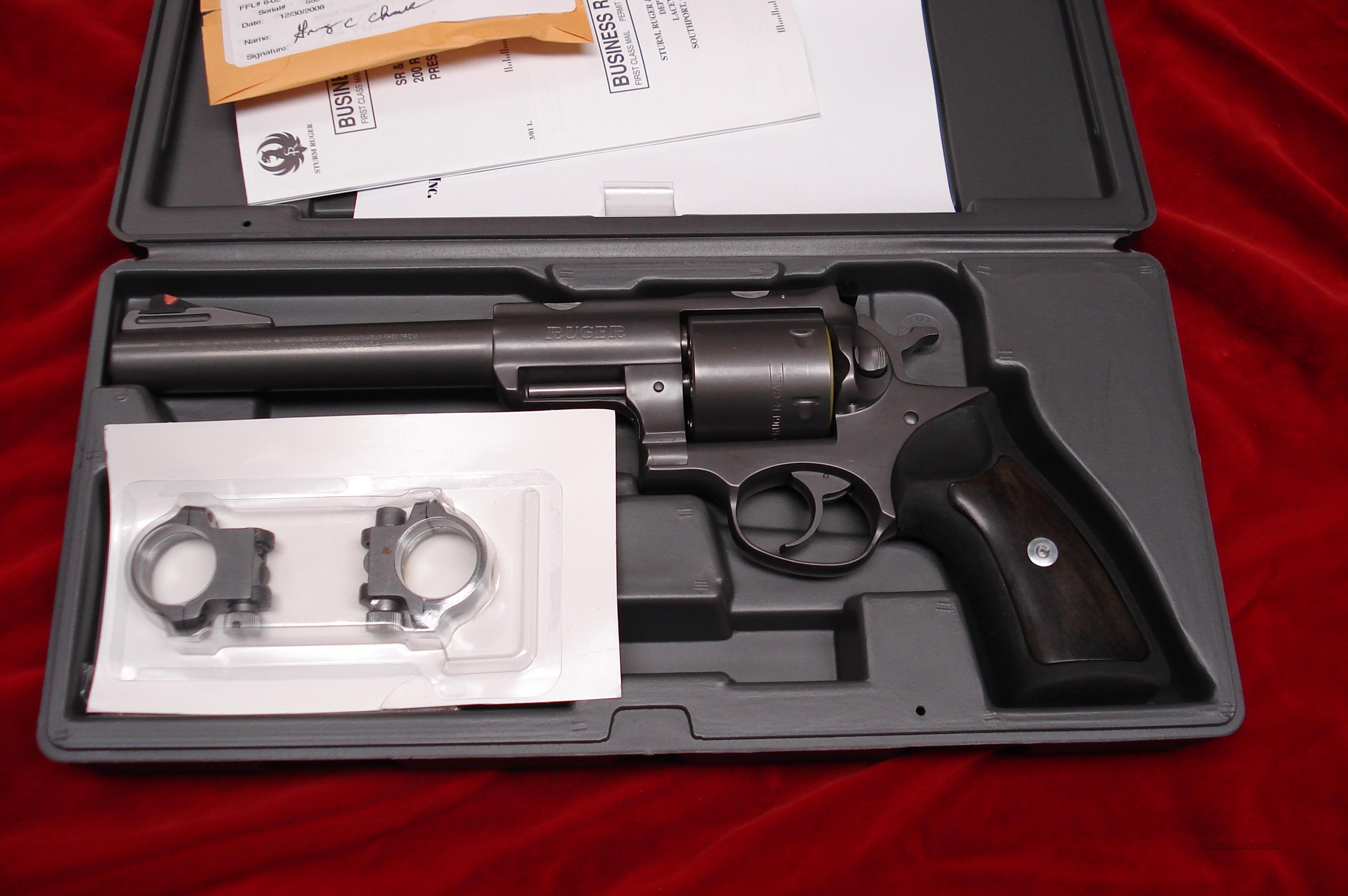 "RUGER SUPER REDHAWK 7.5"" 480 RUGER TARGET GREY WITH RINGS NEW IN THE BOX   Guns > Pistols > Ruger Double Action Revolver > Redhawk Type"