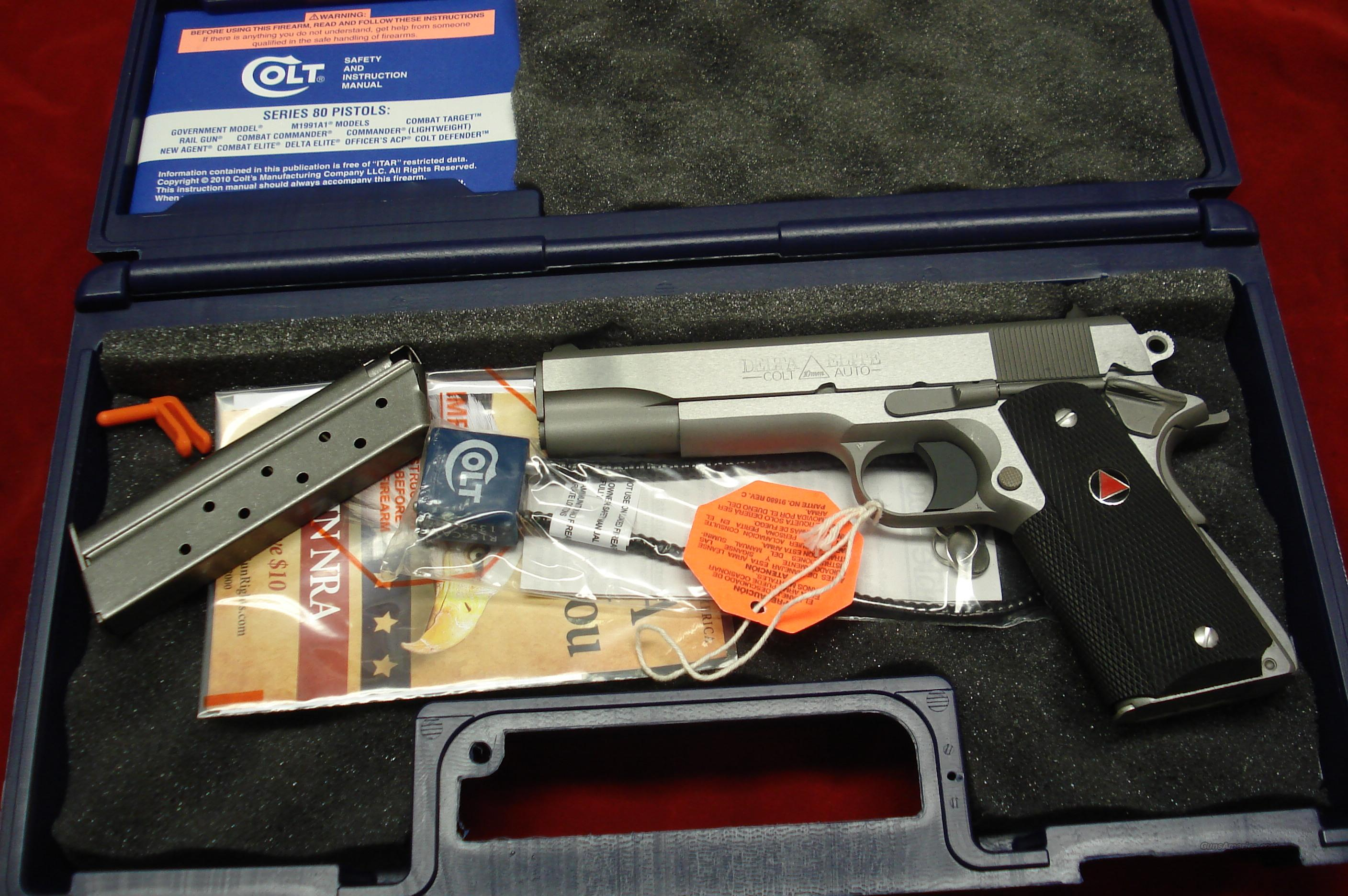 COLT DELTA ELITE MKIV 10MM STAINLESS NEW IN THE BOX   (02020)    Guns > Pistols > Colt Automatic Pistols (1911 & Var)