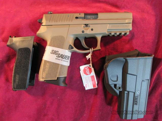 SIG SAUER E2022 9MM CAL IN FLAT DARK EARTH WITH HOLSTER AND EXTRA BLACK GRIP NEW  Guns > Pistols > Sig - Sauer/Sigarms Pistols > 2022